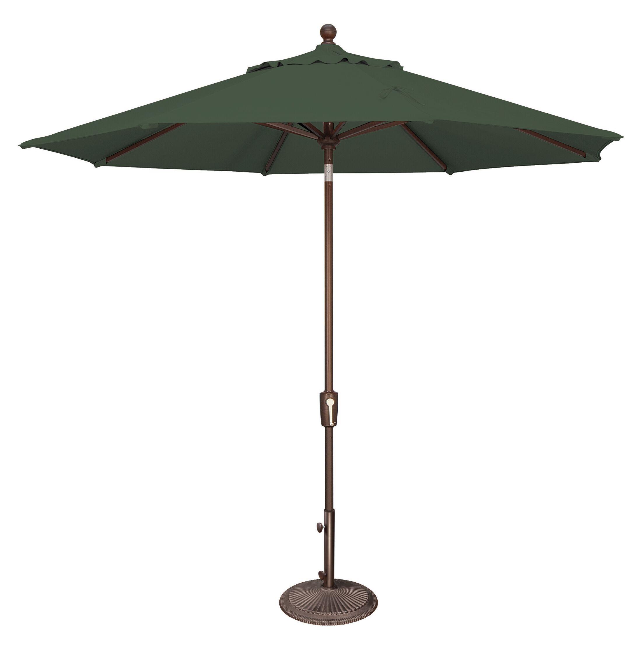 Catalina 9' Market Umbrella Fabric Color: Sunbrella / Forest Green