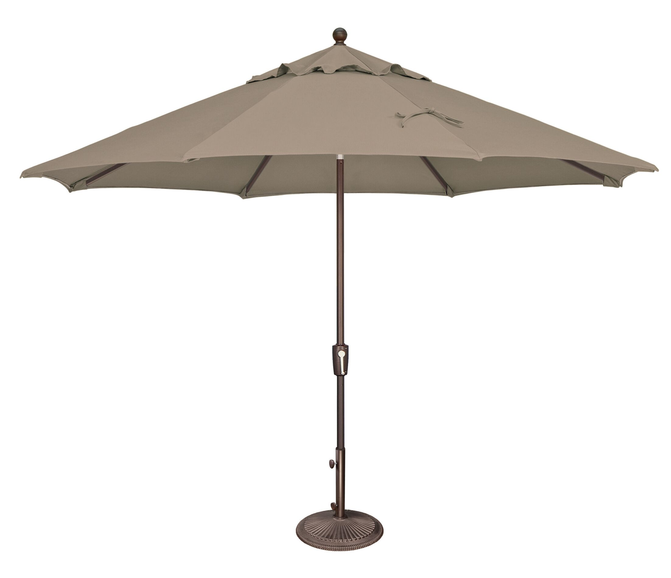 Catalina 11' Market Umbrella Fabric: Sunbrella / Cocoa