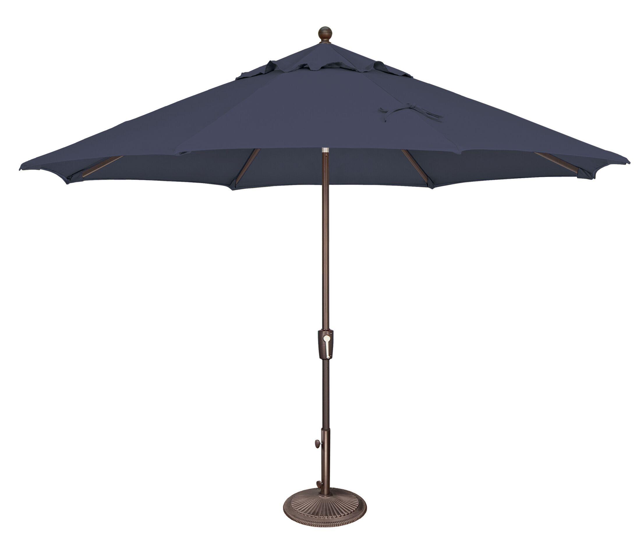 Catalina 11' Market Umbrella Fabric: Sunbrella / Navy