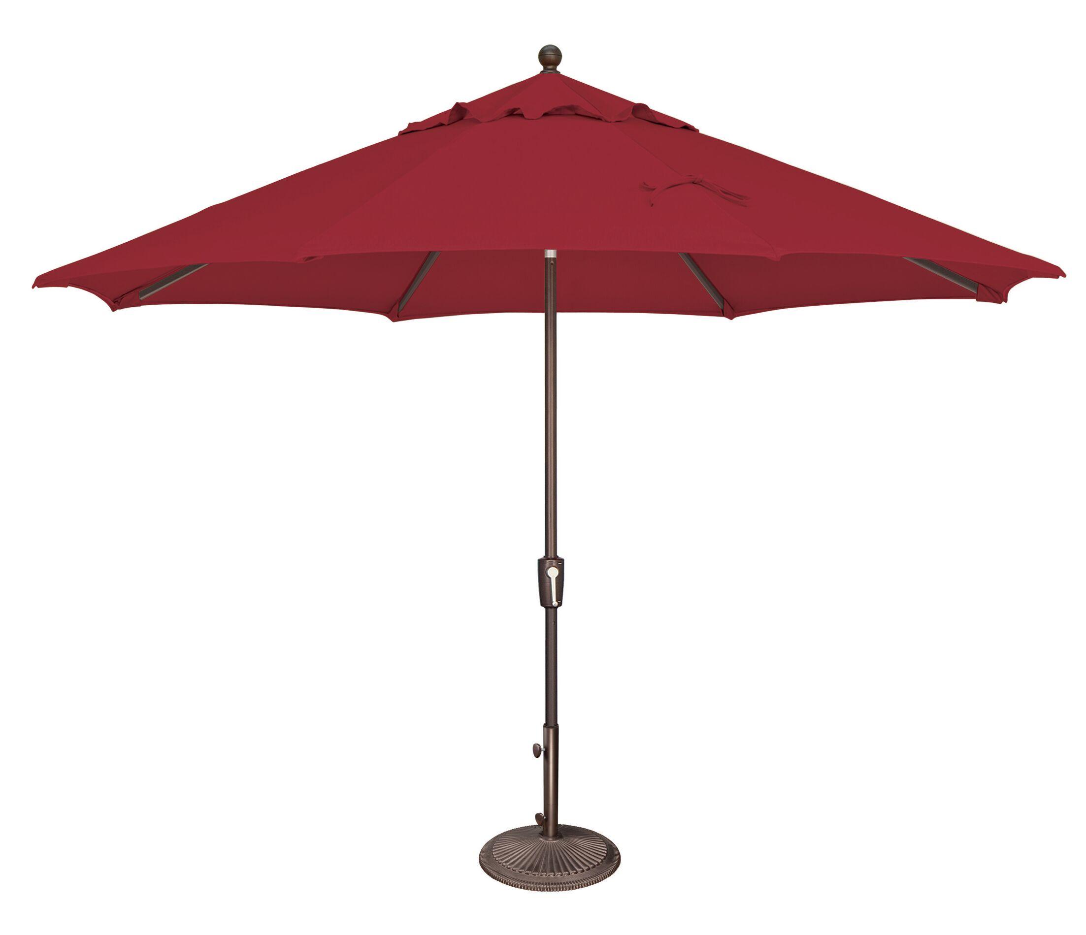 Catalina 11' Market Umbrella Fabric: Solefin / Really Red