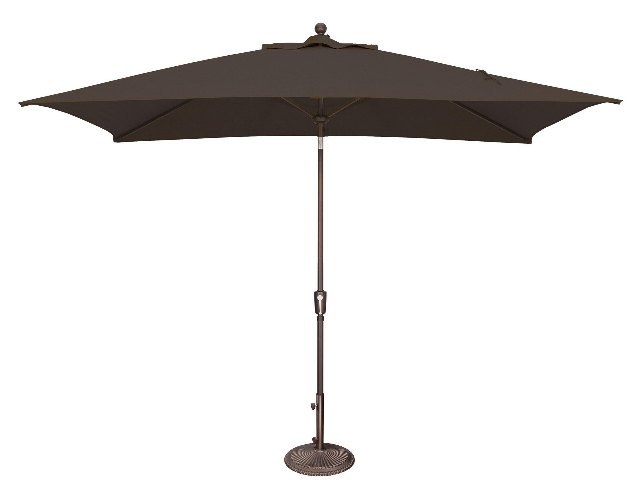 Catalina 10' X 6.5' Rectangular Market Umbrella Fabric Color: Solefin / Black