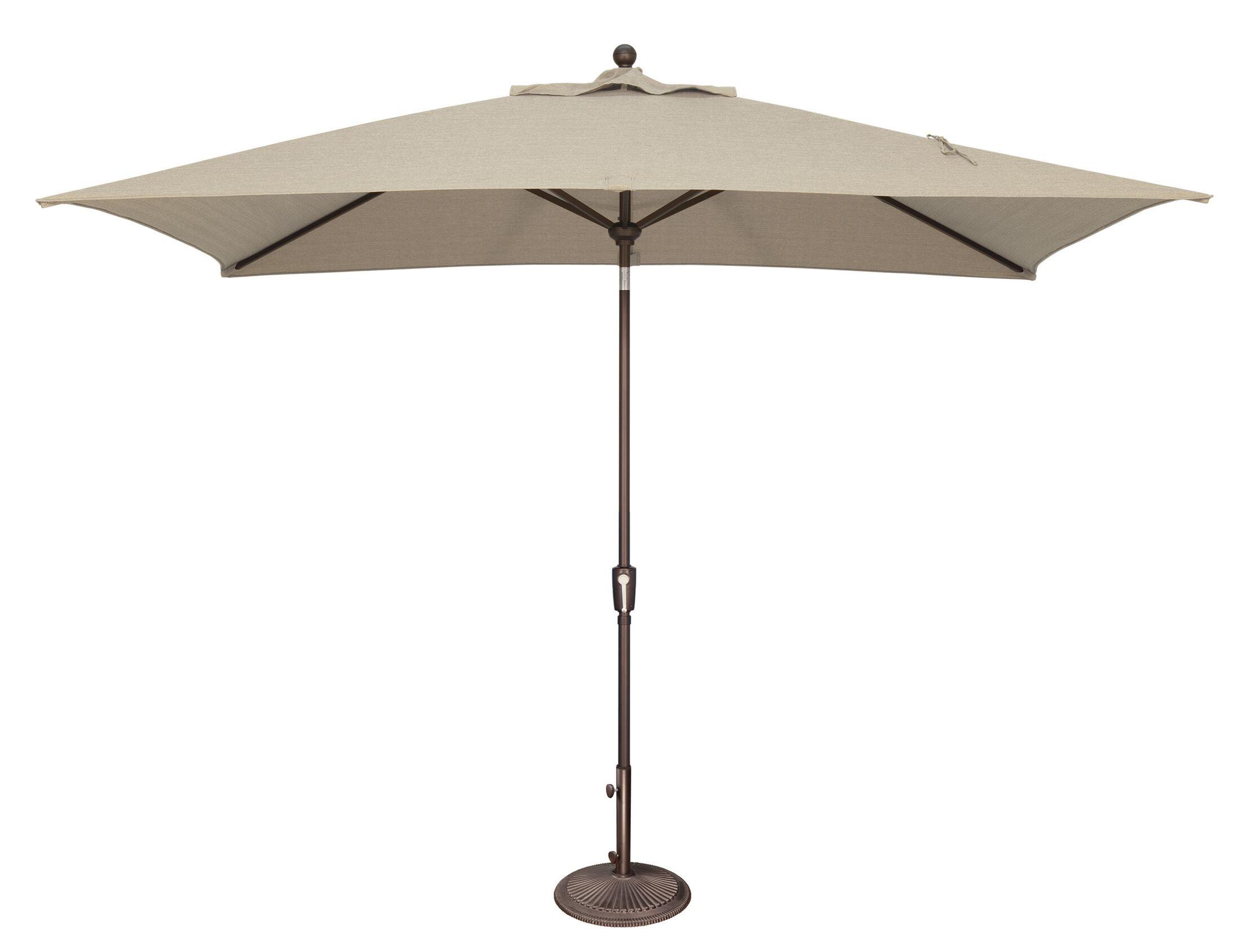 Catalina 10' X 6.5' Rectangular Market Umbrella Fabric Color: Solefin / Beige