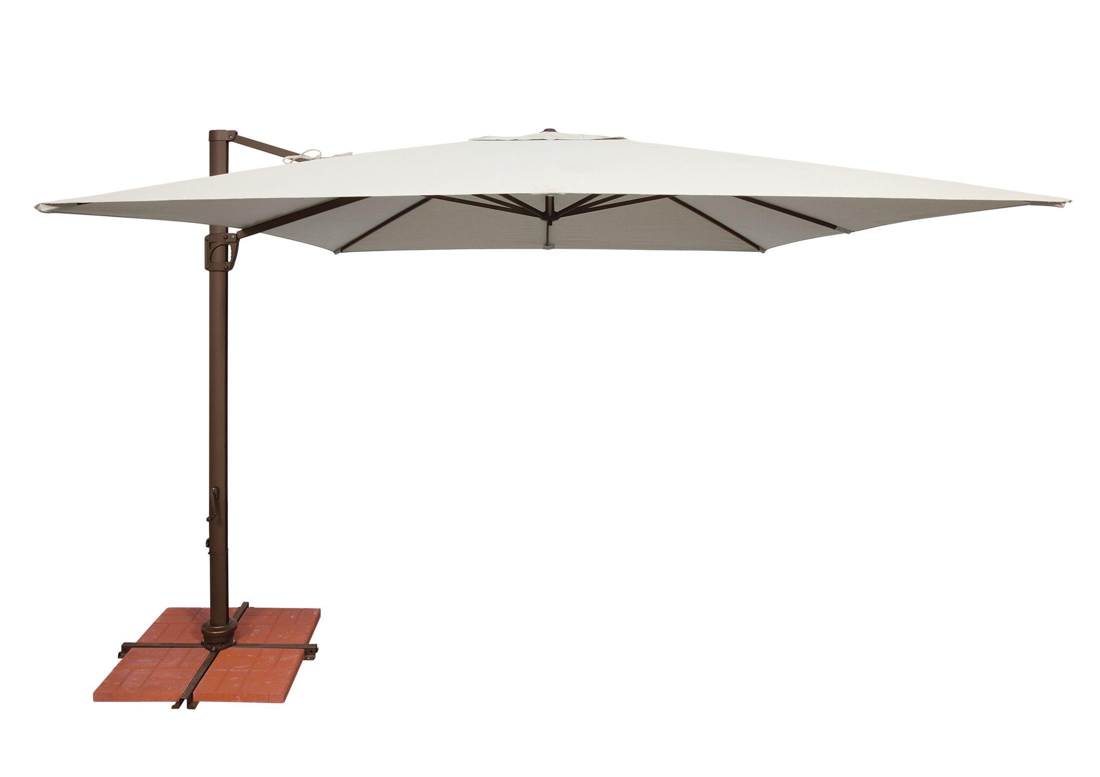 Bali 10' Square Cantilever Umbrella Fabric: Sunbrella / Natural