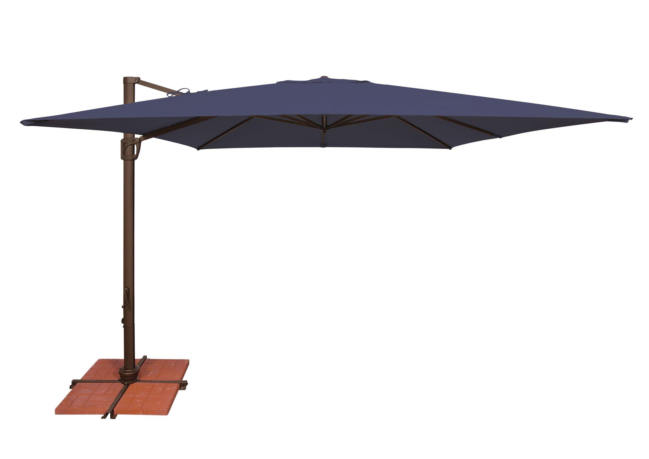 Bali 10' Square Cantilever Umbrella Fabric: Sunbrella / Navy
