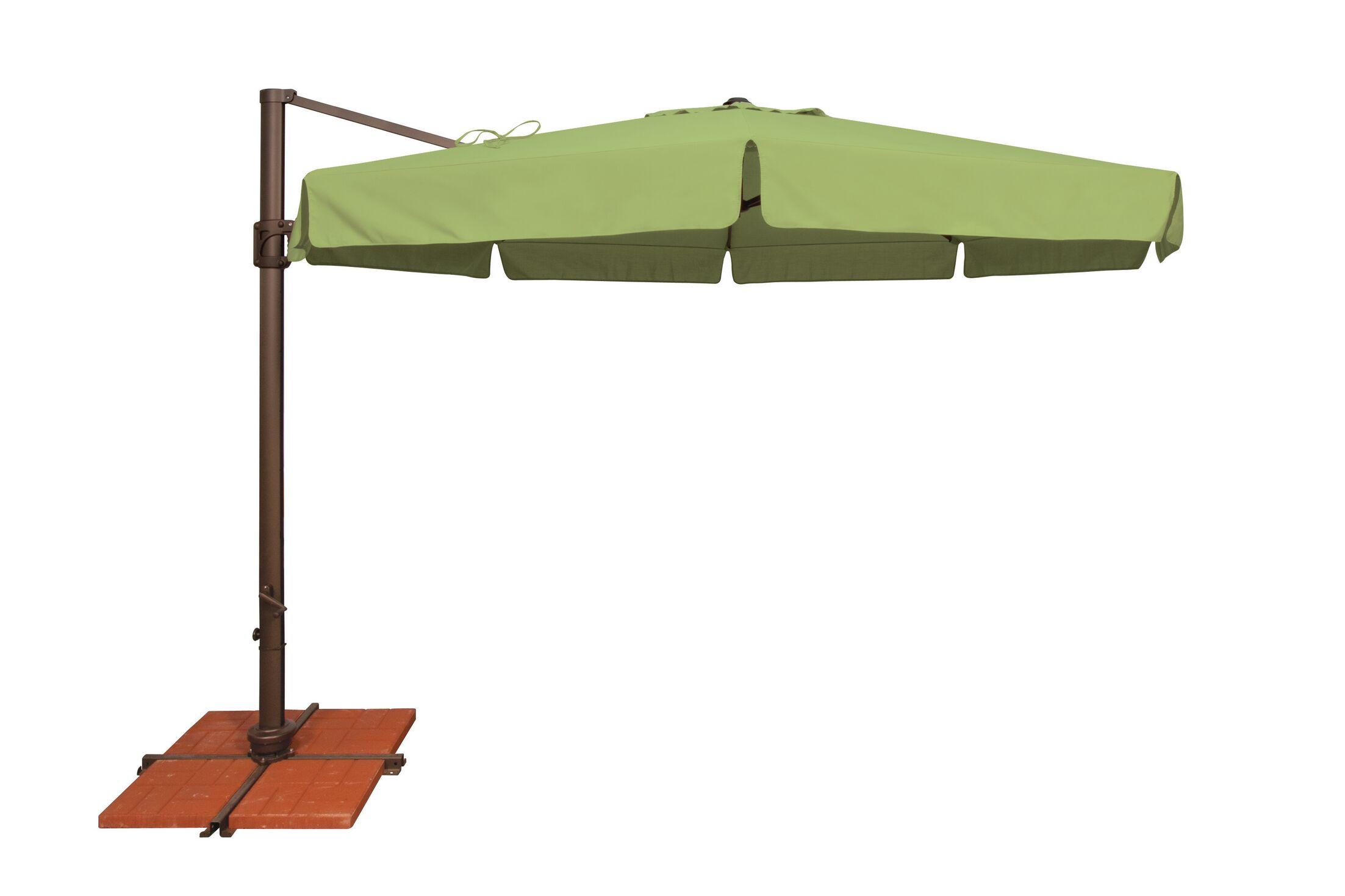 Bali 11' Cantilever Umbrella Fabric: Sunbrella / Ginkgo