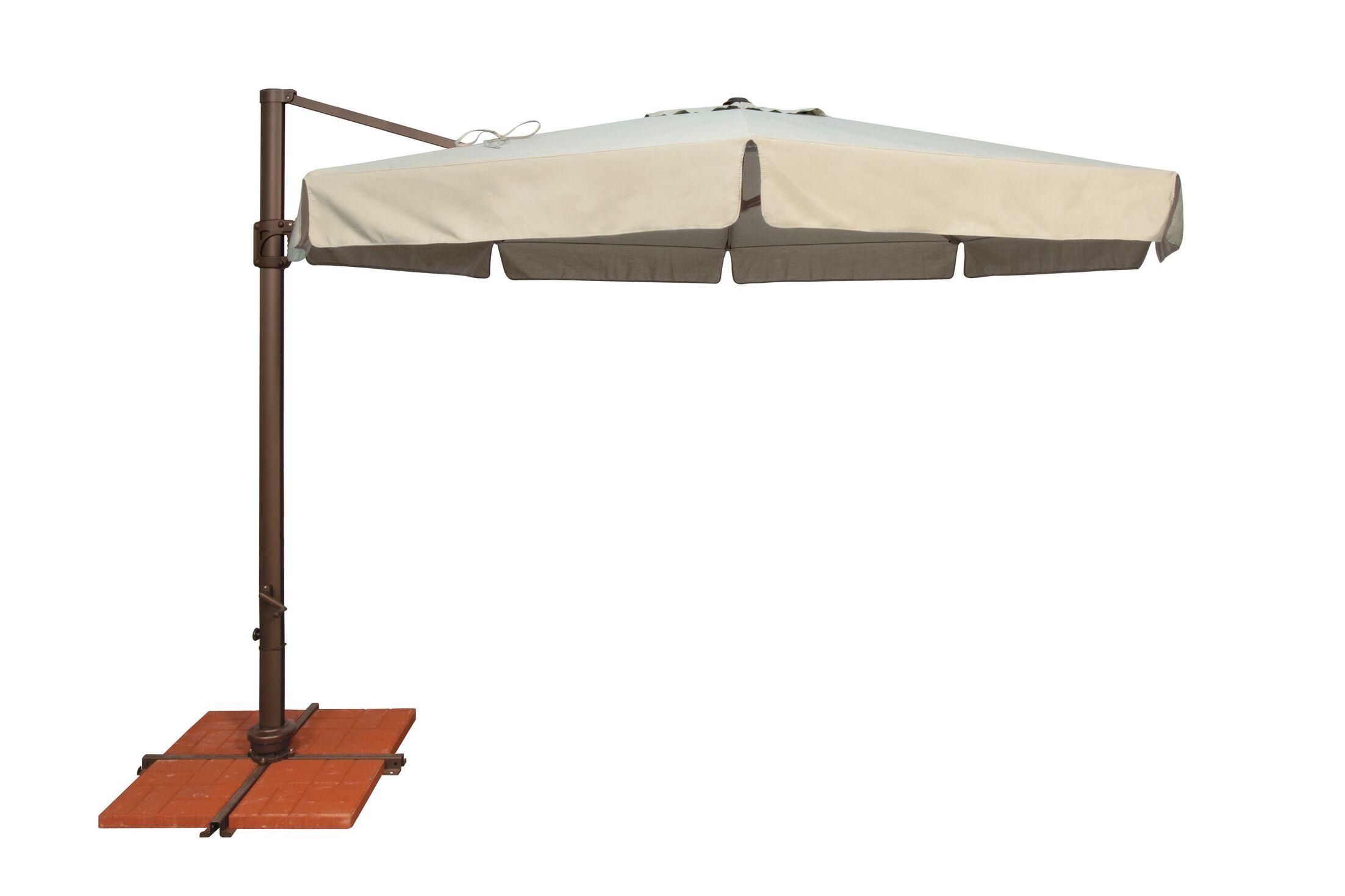 Bali 11' Cantilever Umbrella Fabric: Solefin / Beige