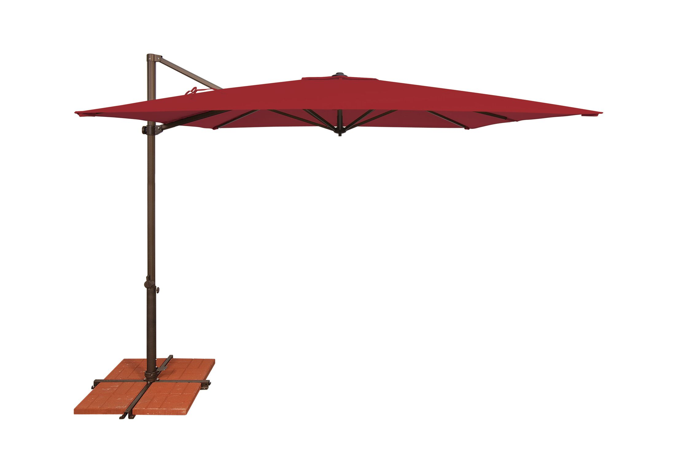 Skye 8.6' Square Cantilever Umbrella Fabric: Solefin / Really Red