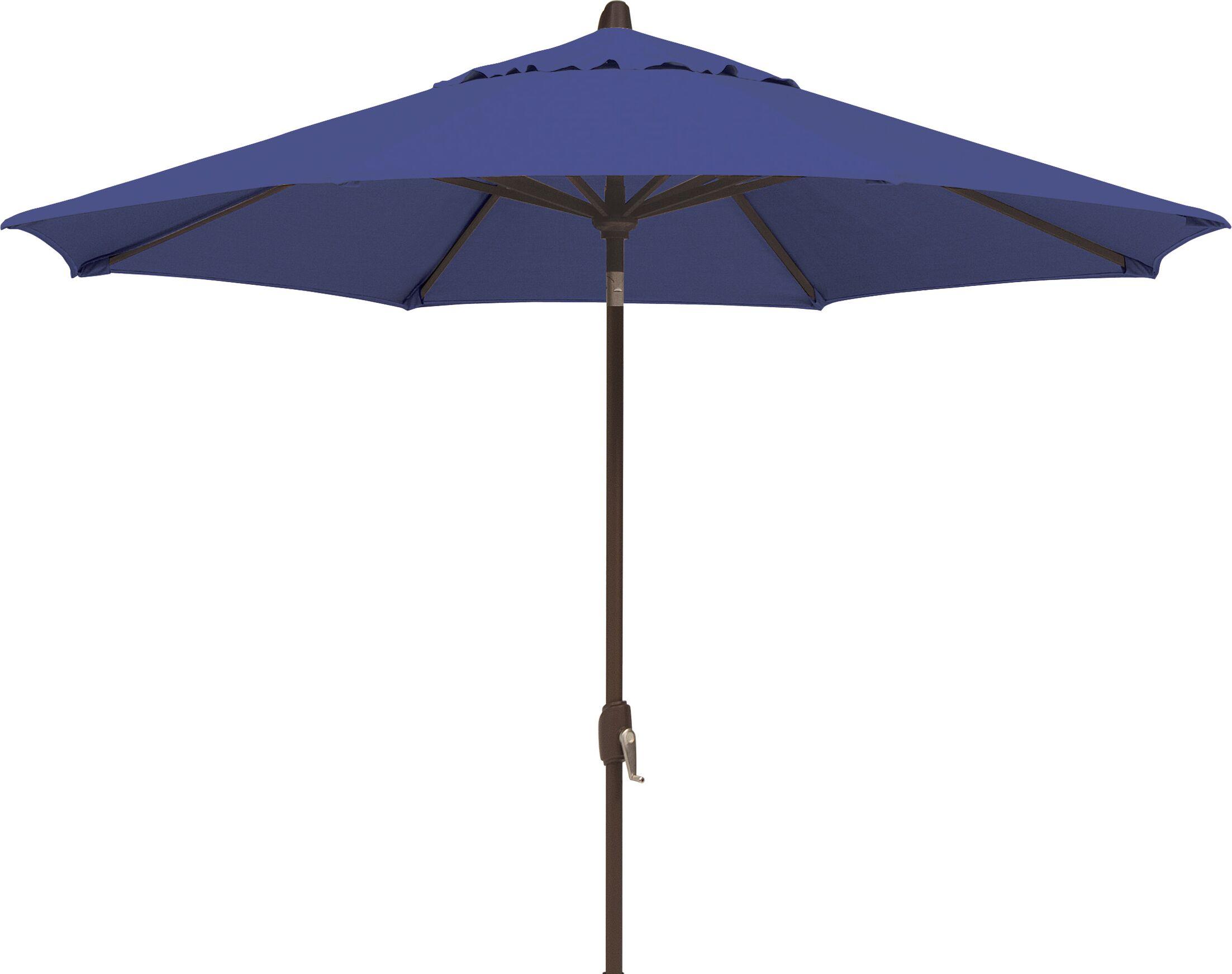 Lanai 9' Market Umbrella Fabric: Solefin / Sky Blue