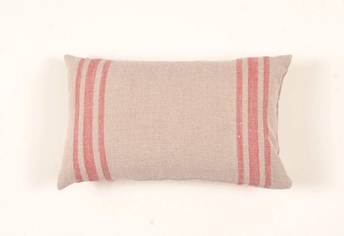 Farmhouse Belgium Linen Lumbar Pillow