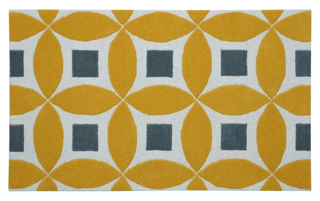 Henley Hand-Tufted Gold/Gray Area Rug Rug Size: Rectangle 4' x 6'