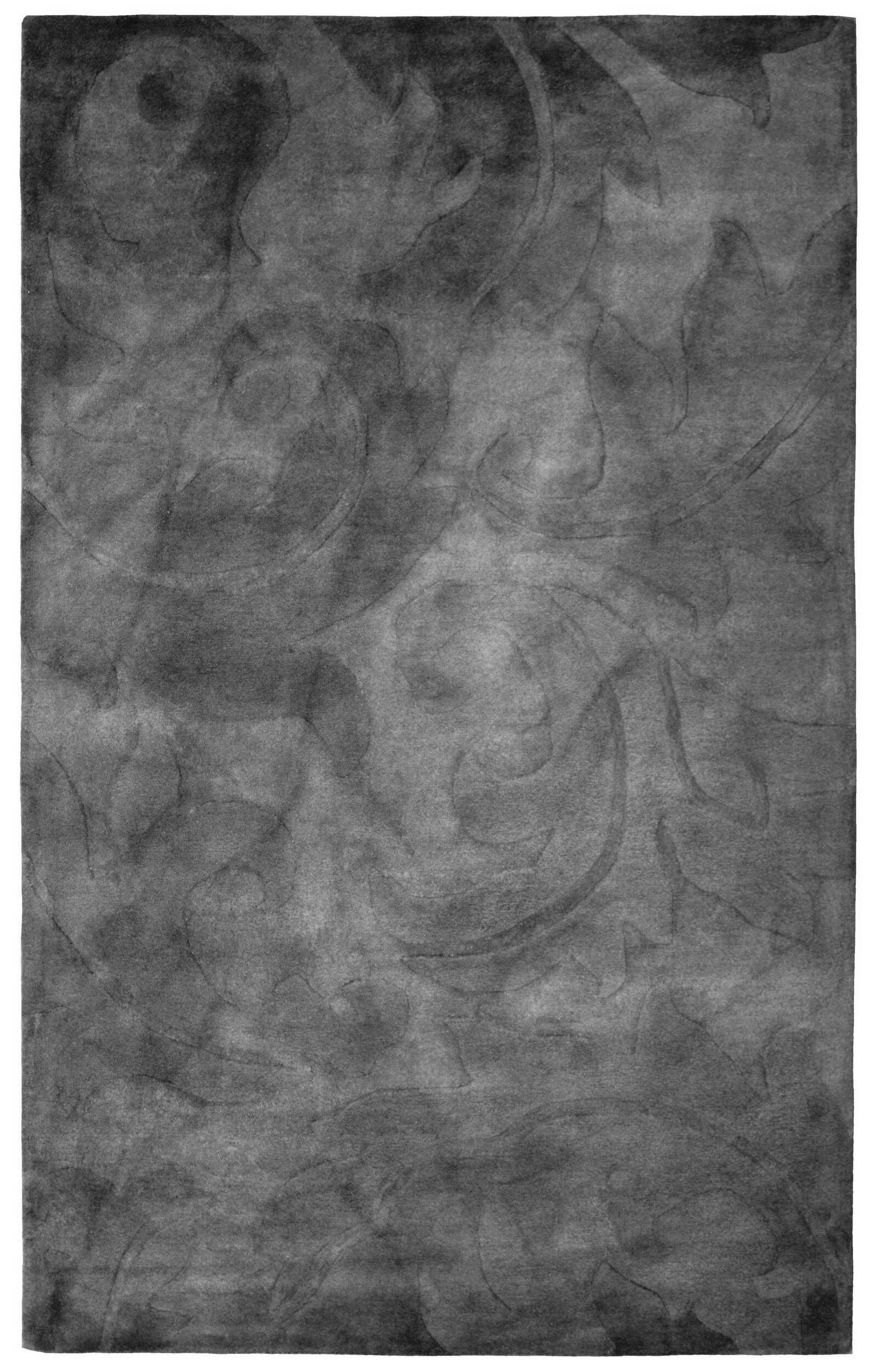 Wool Hand-Tufted Gray Area Rug Rug Size: 6