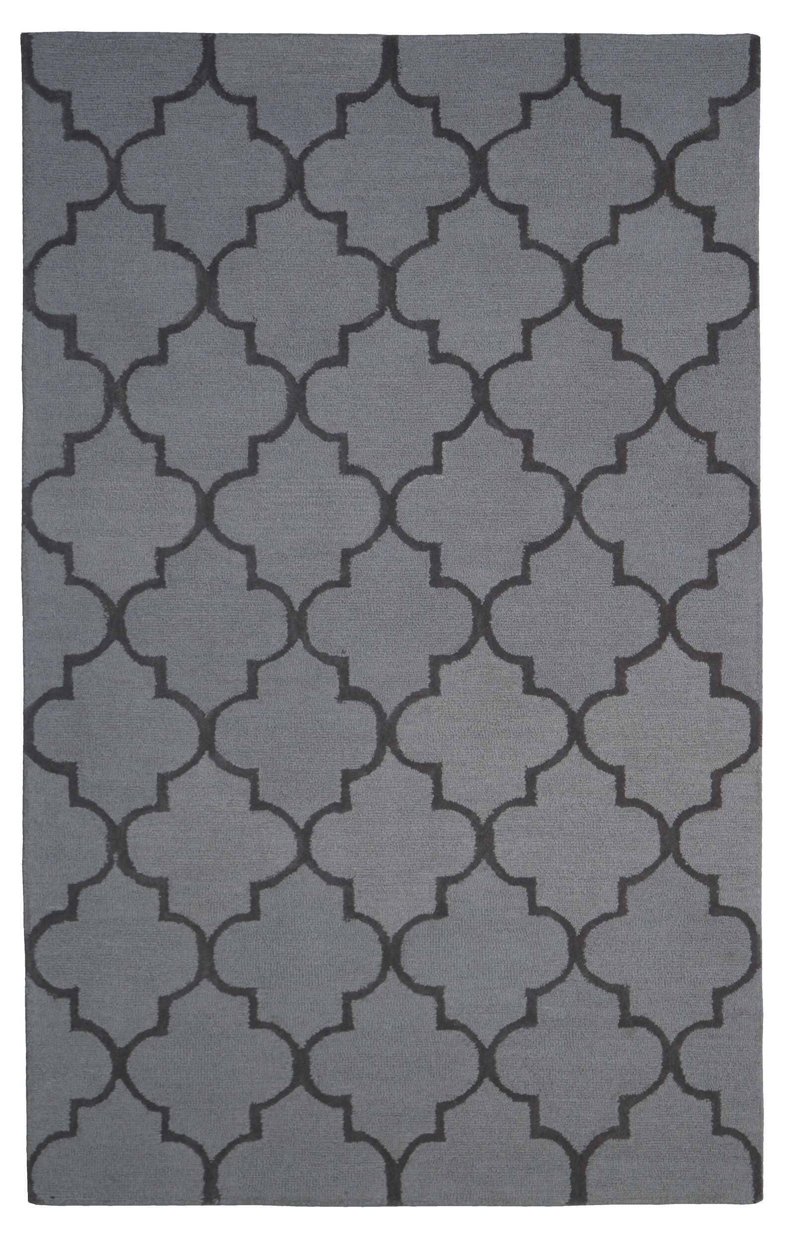 Wool Hand-Tufted Rust/Brown Area Rug Rug Size: 5' x 8'
