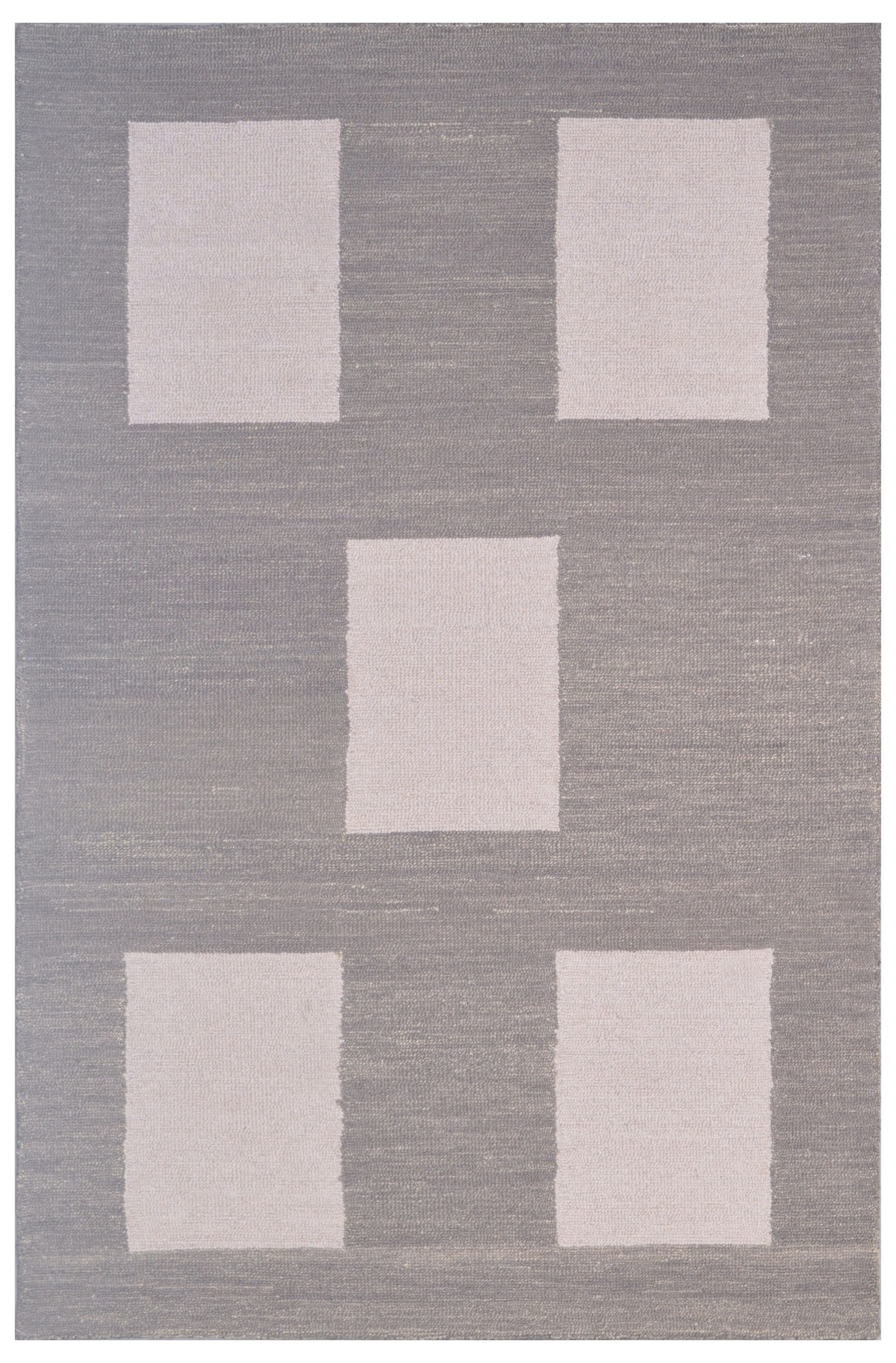 Wool Hand-Tufted Beige/Gray Area Rug Rug Size: Rectangle 6' x 6'