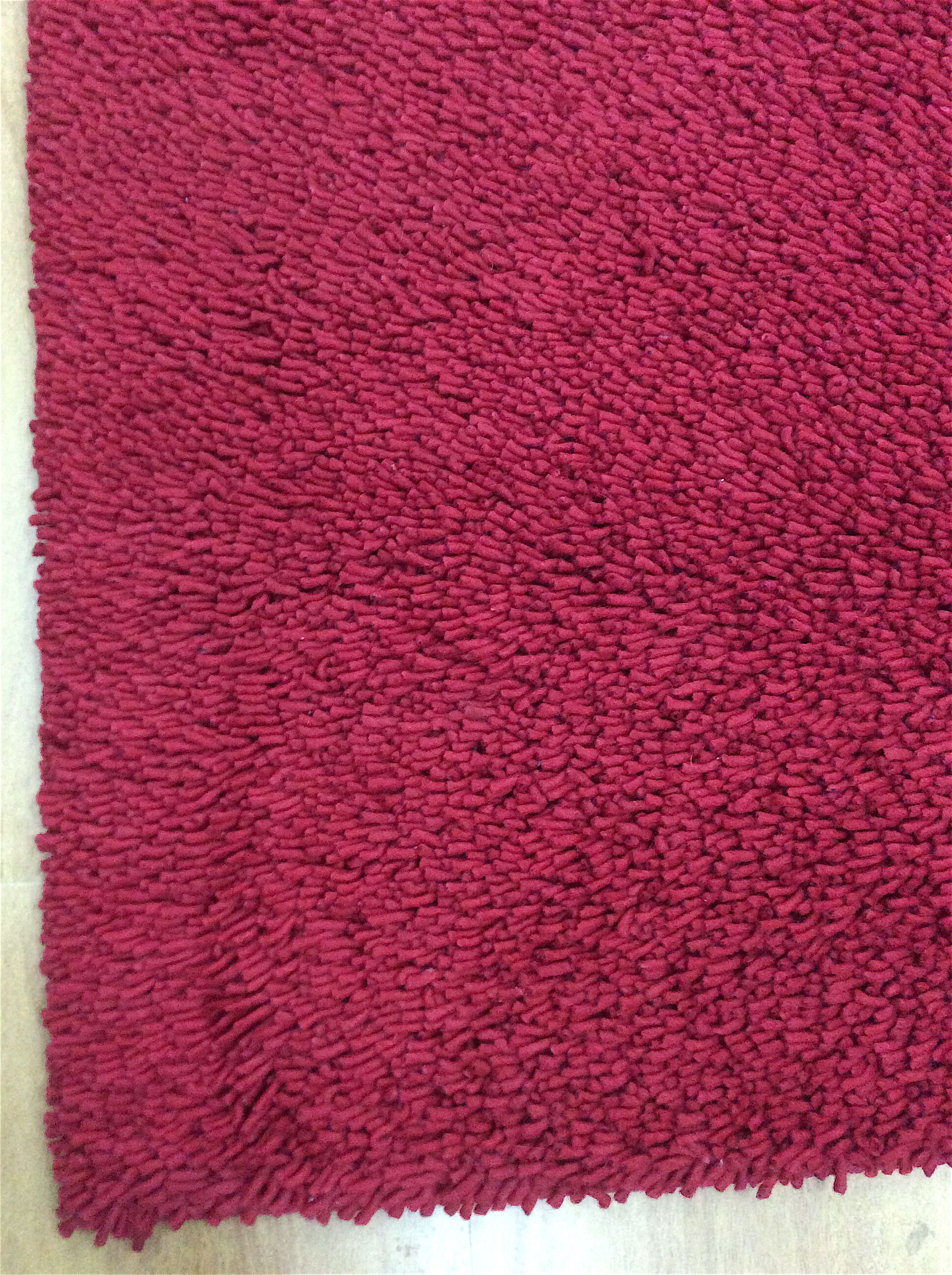 Shag Eyeball Woolen Hand Knotted Wine Red Area Rug Rug Size: Rectangle 9' x 12'