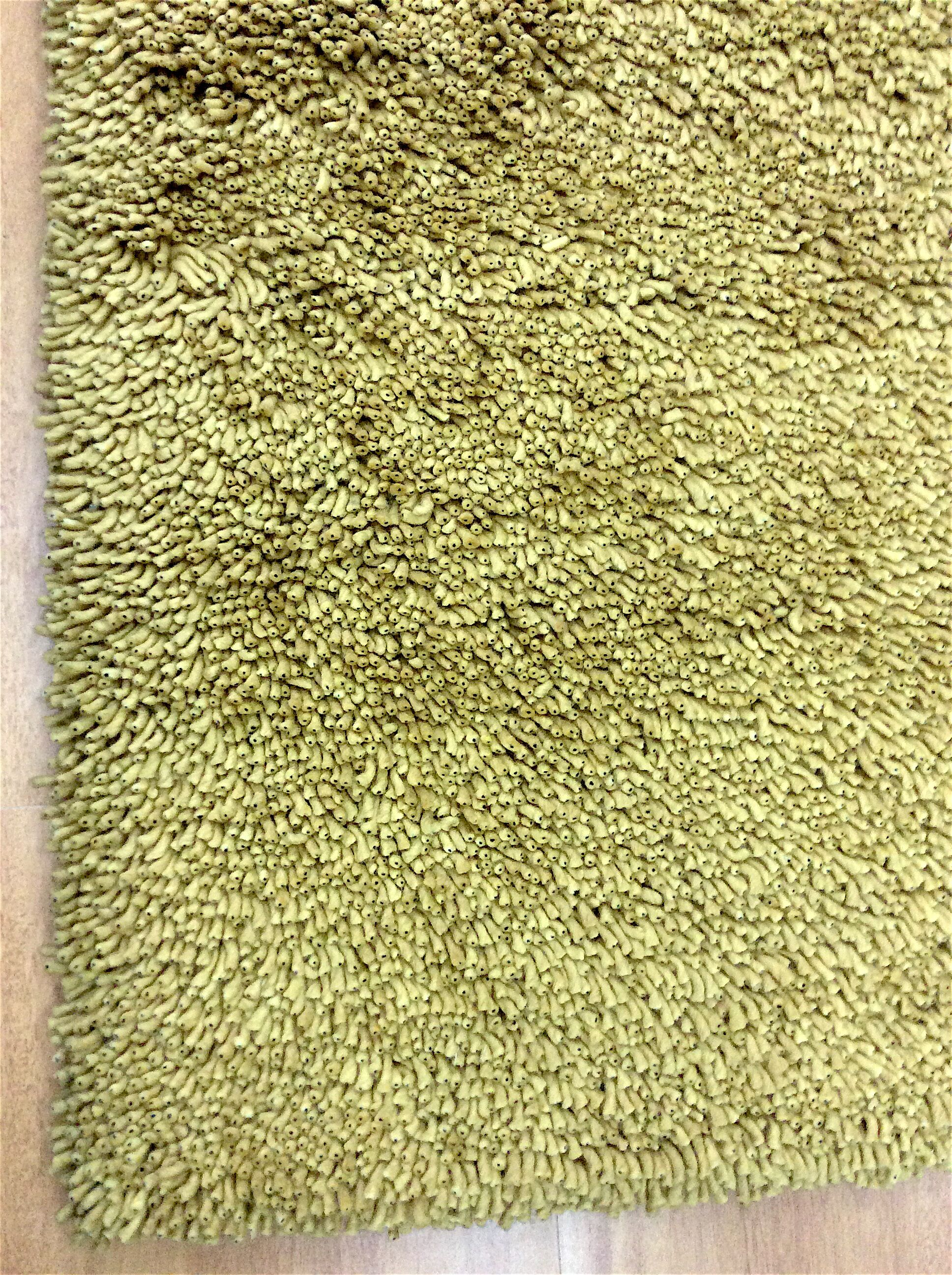 Shag Eyeball Woolen Hand Knotted Green Area Rug Rug Size: Round 10'