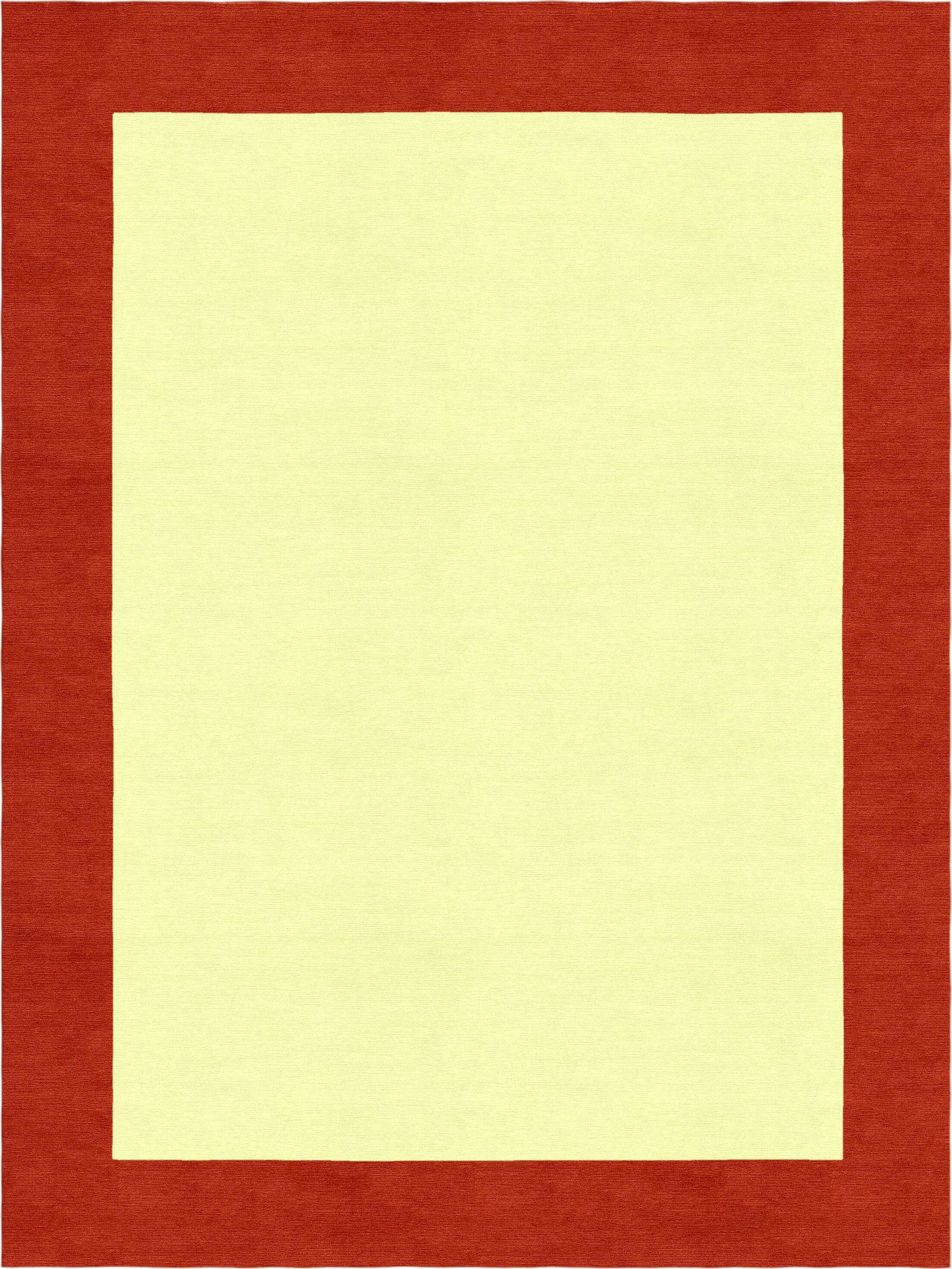 Highlands Hand-Tufted Wool Red/Yellow Area Rug Rug Size: Rectangle 8' X 10'