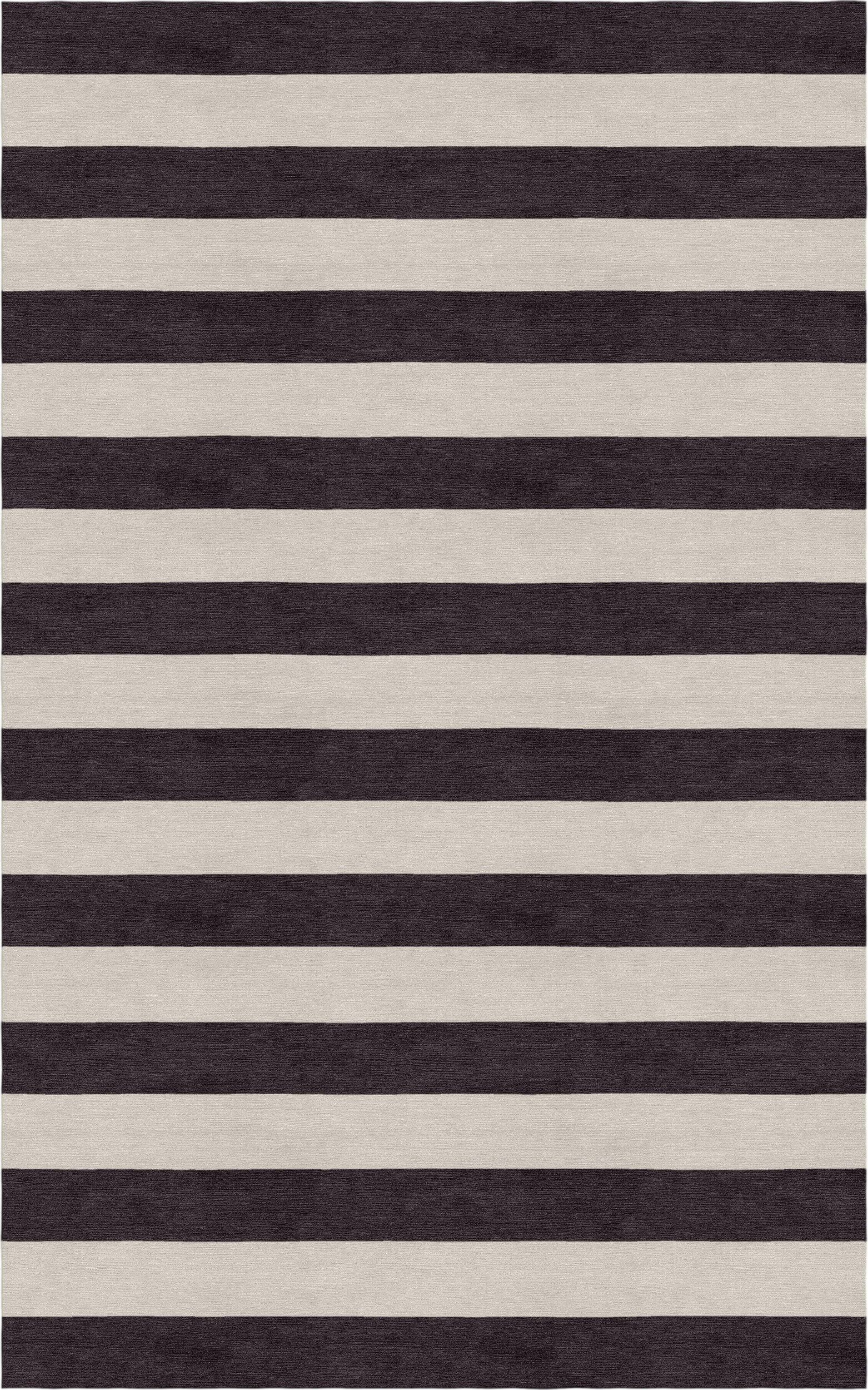 Critchfield Stripe Hand-Tufted Wool Silver/Charcoal Area Rug Rug Size: Rectangle 9' x 12'