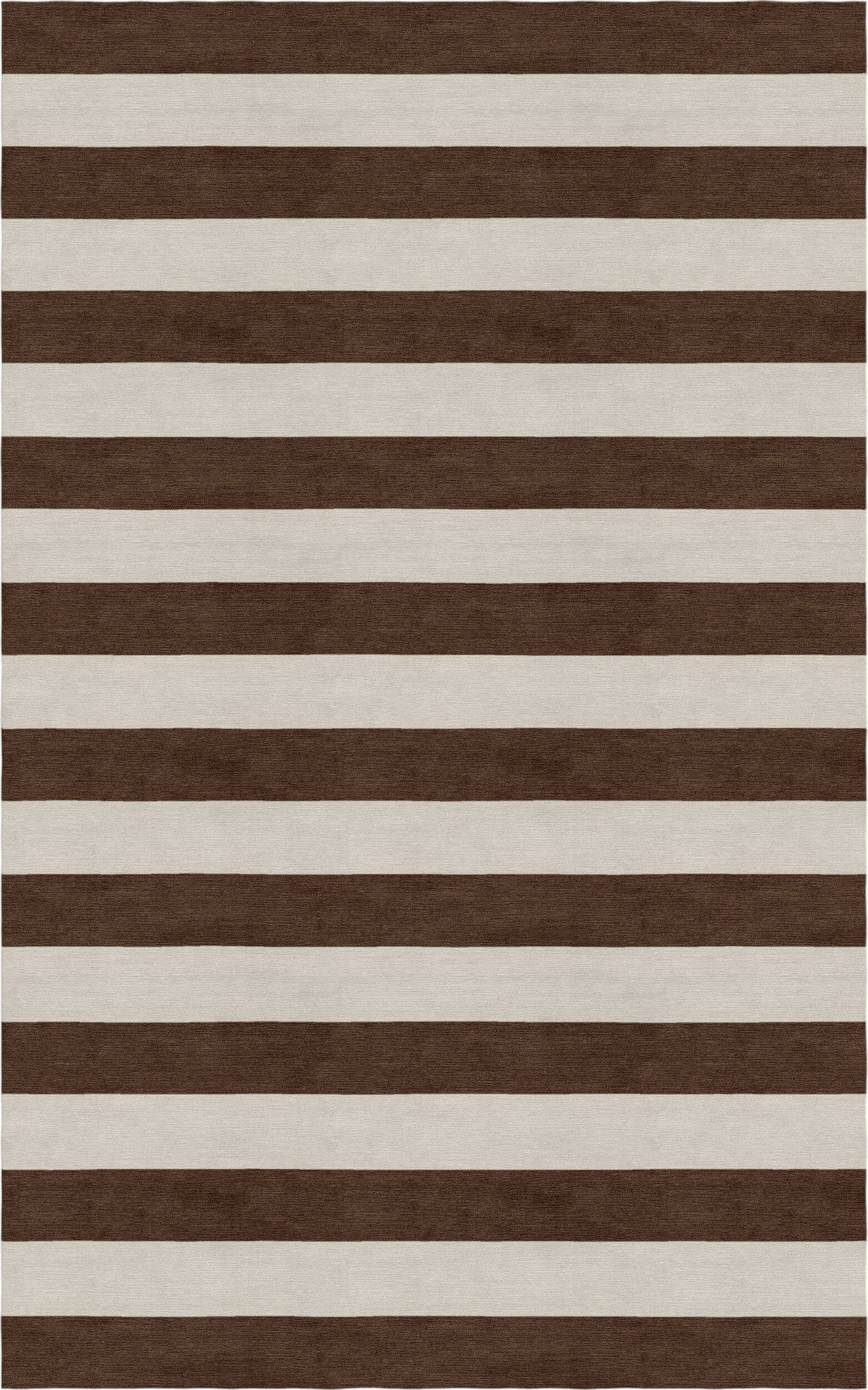 Critchlow Stripe Hand Tufted-Wool Silver/Brown Area Rug Rug Size: Rectangle 6' x 9'