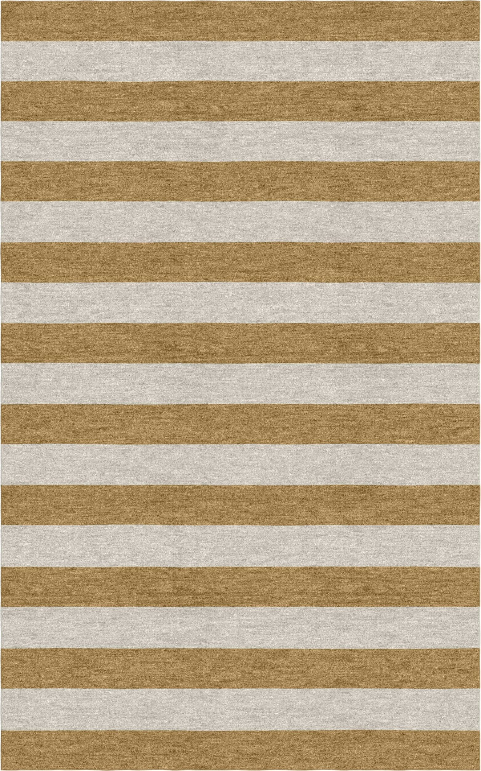 Chace Hand Tufted Wool Silver/Camel Stripe Area Rug Rug Size: Rectangle 9' x 12'