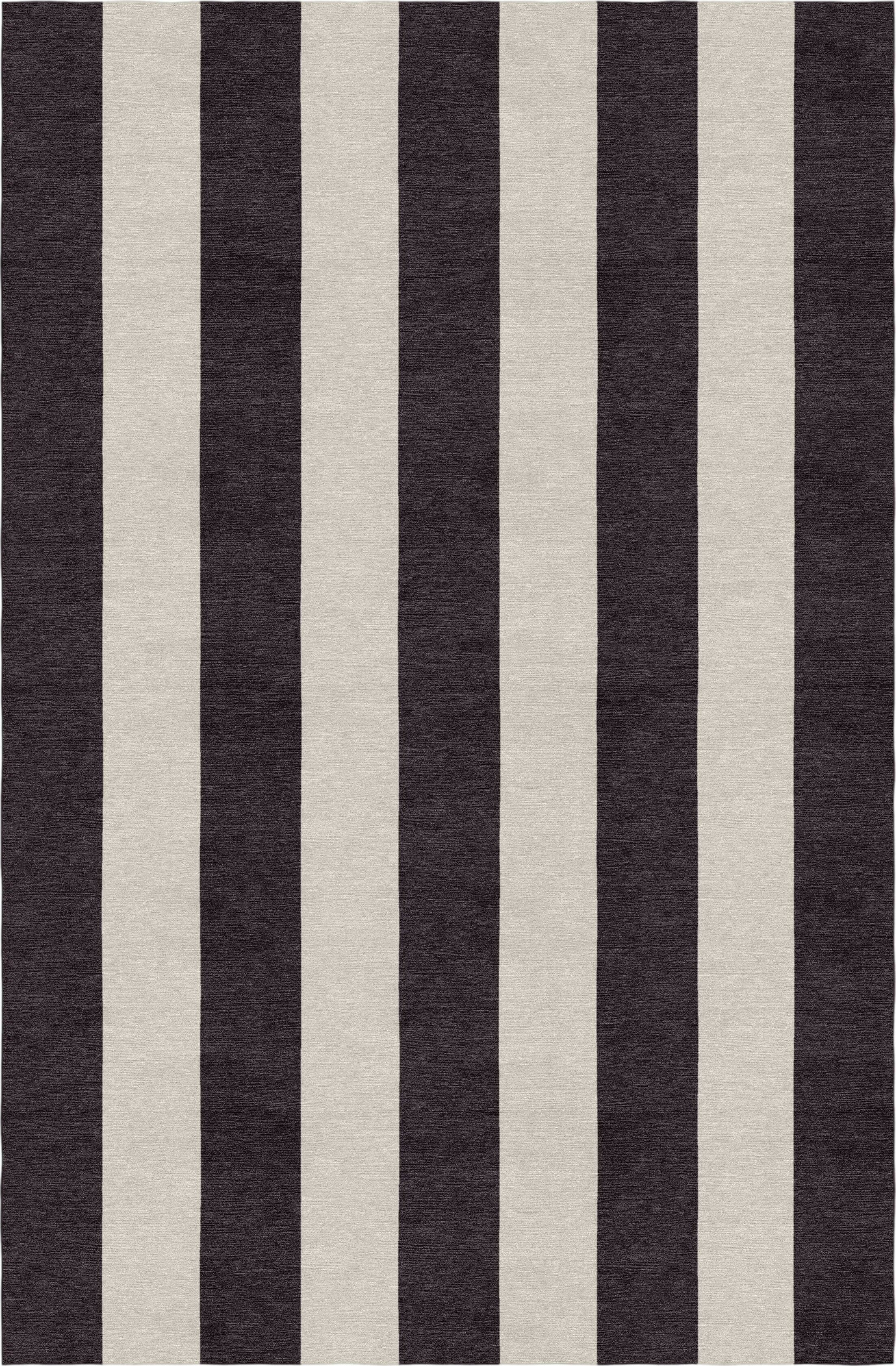 Clausen Stripe Hand-Woven Wool Silver/Charcoal Area Rug Rug Size: Rectangle 6' X 9'
