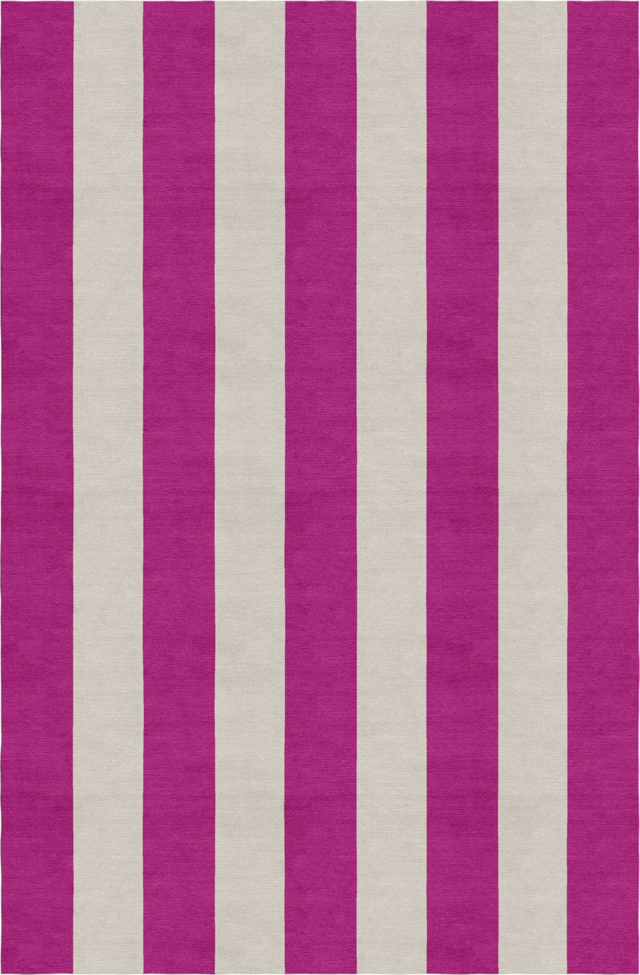 Claussen Stripe Hand-Woven Wool Silver/Magenta Area Rug Rug Size: Rectangle 5' X 8'