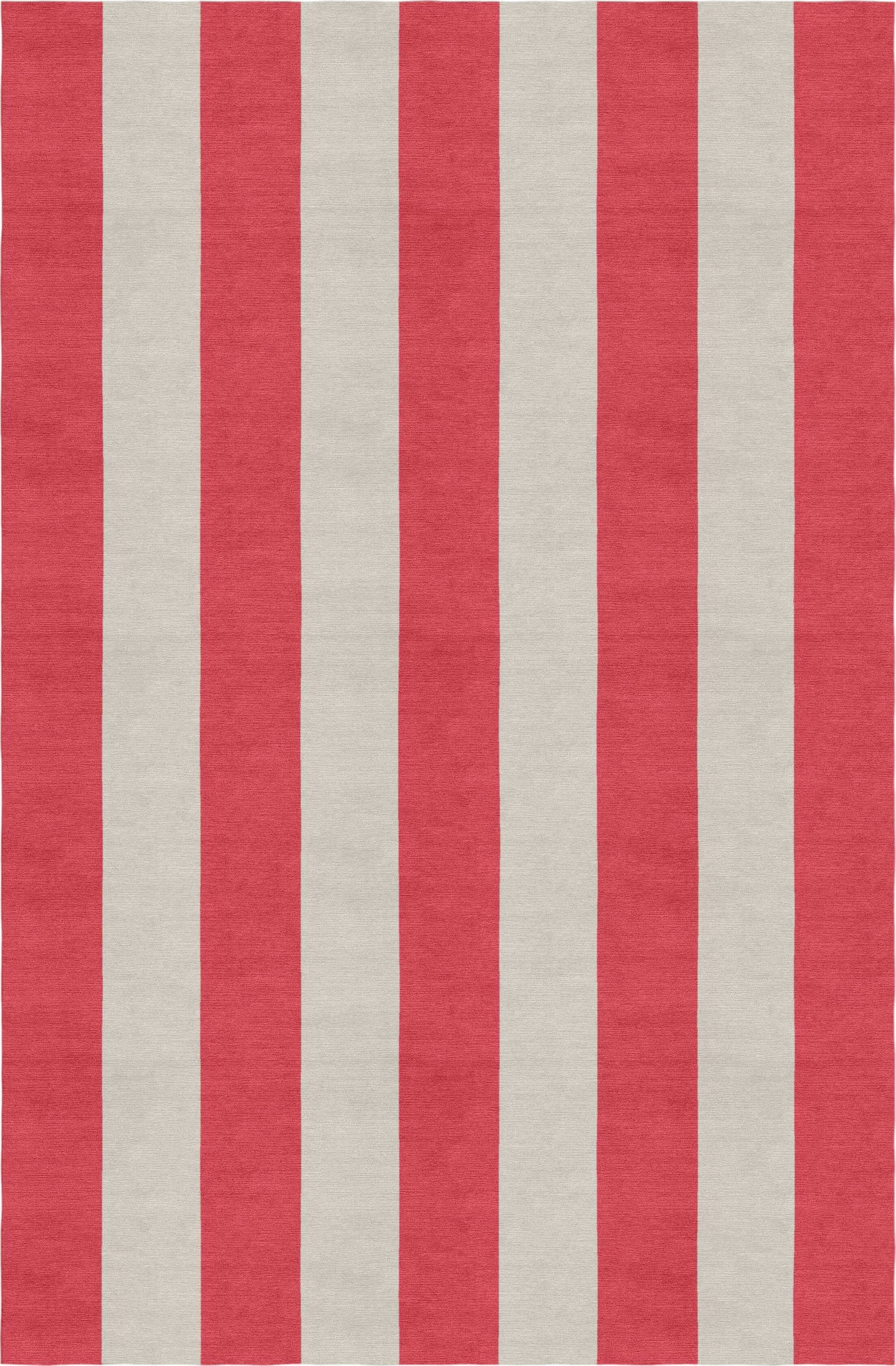 Claverton Down Stripe Hand-Woven Wool Silver/Red Area Rug Rug Size: Rectangle 6' X 9'