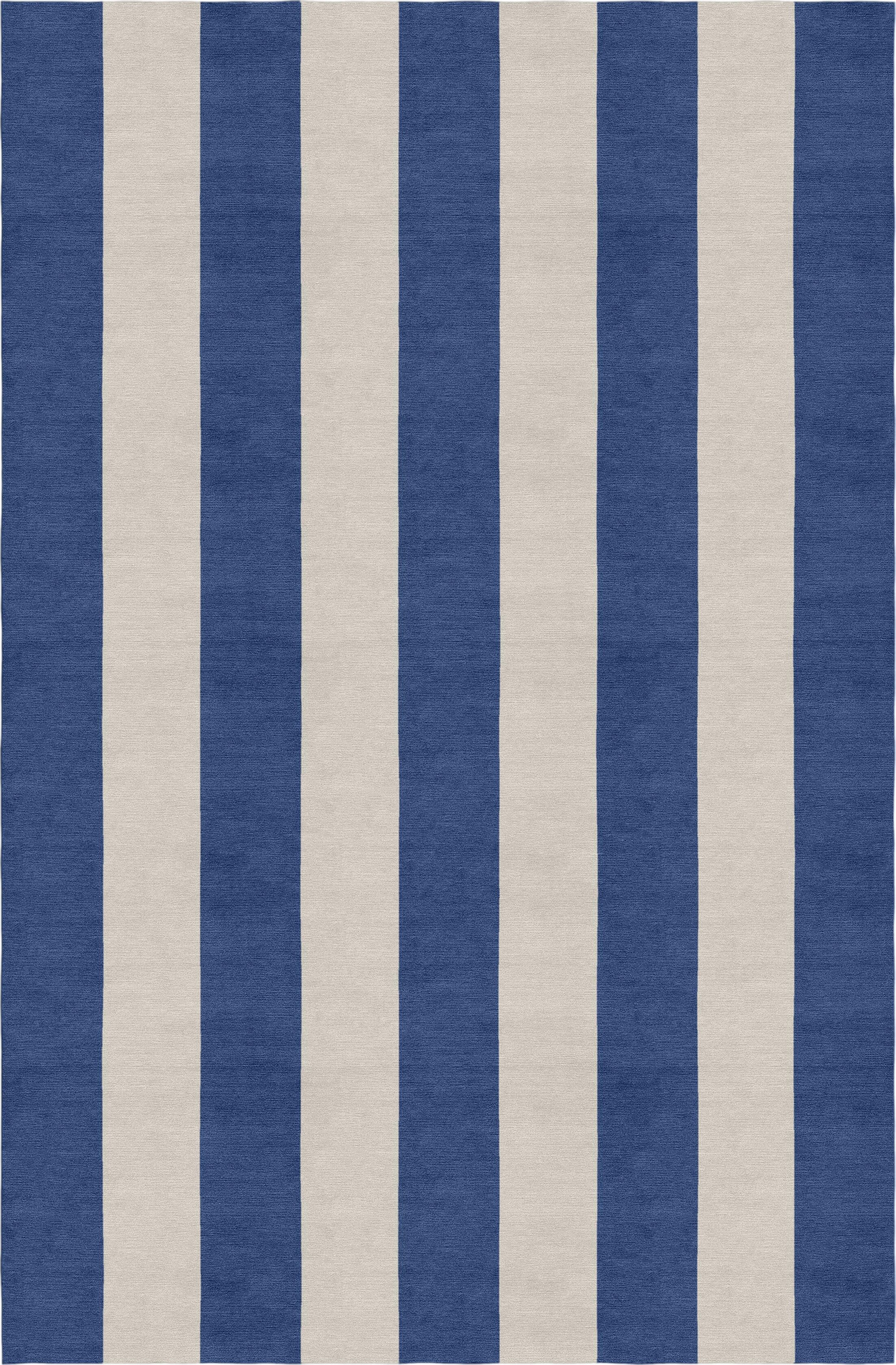 Clayborn Stripe Hand-Woven Wool Silver/Navy Blue Area Rug Rug Size: Rectangle 5' X 8'