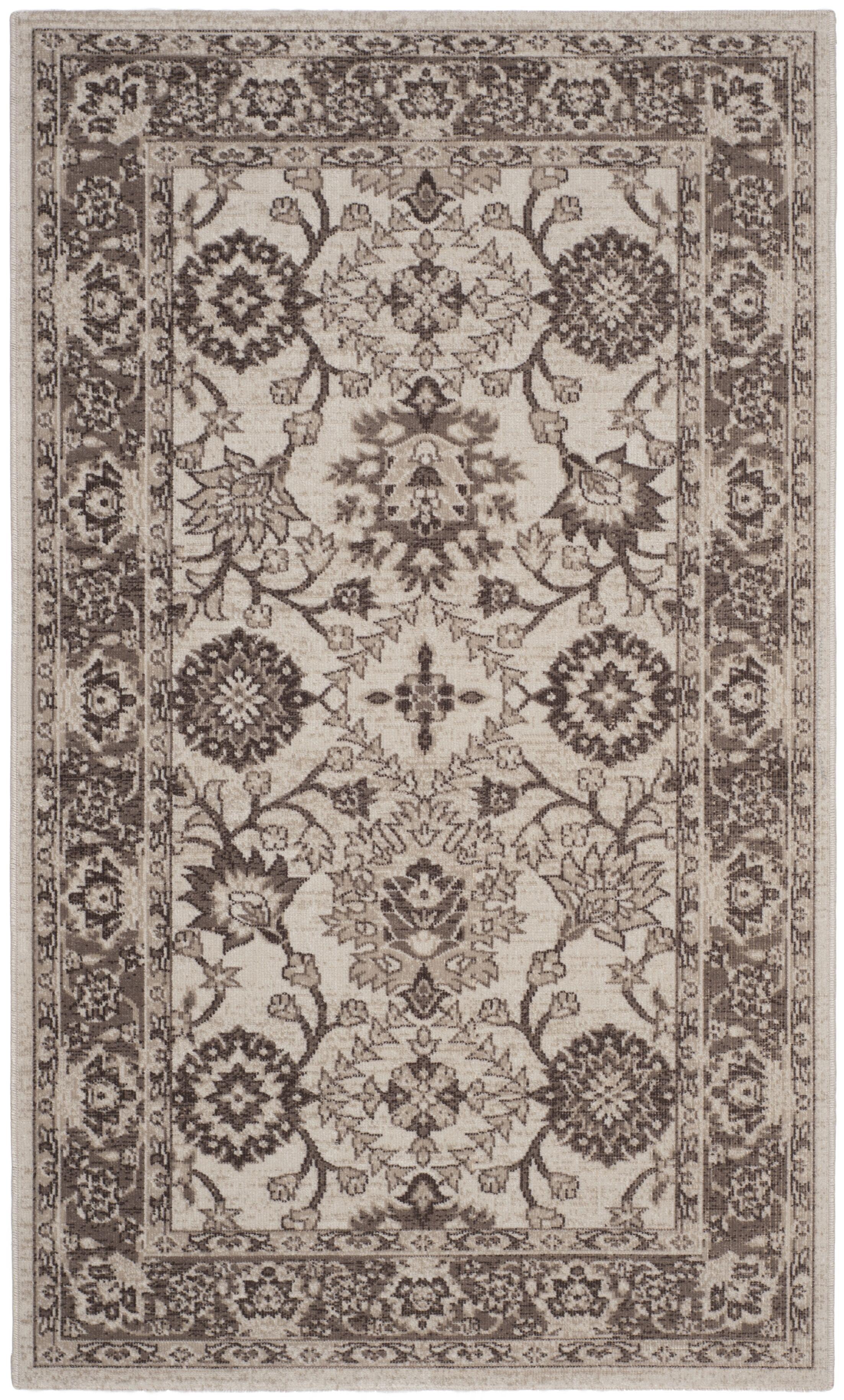 Salisbury Ivory/Brown Area Rug Rug Size: Rectangle 8' x 10'