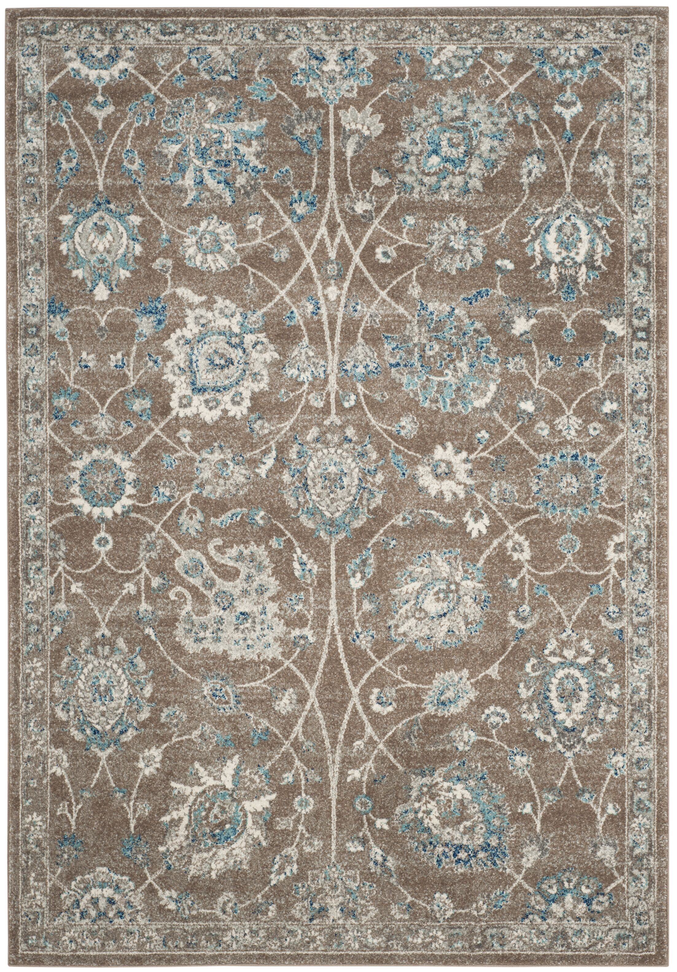 Bloomfield Light Brown/Blue Area Rug Rug Size: 6'7