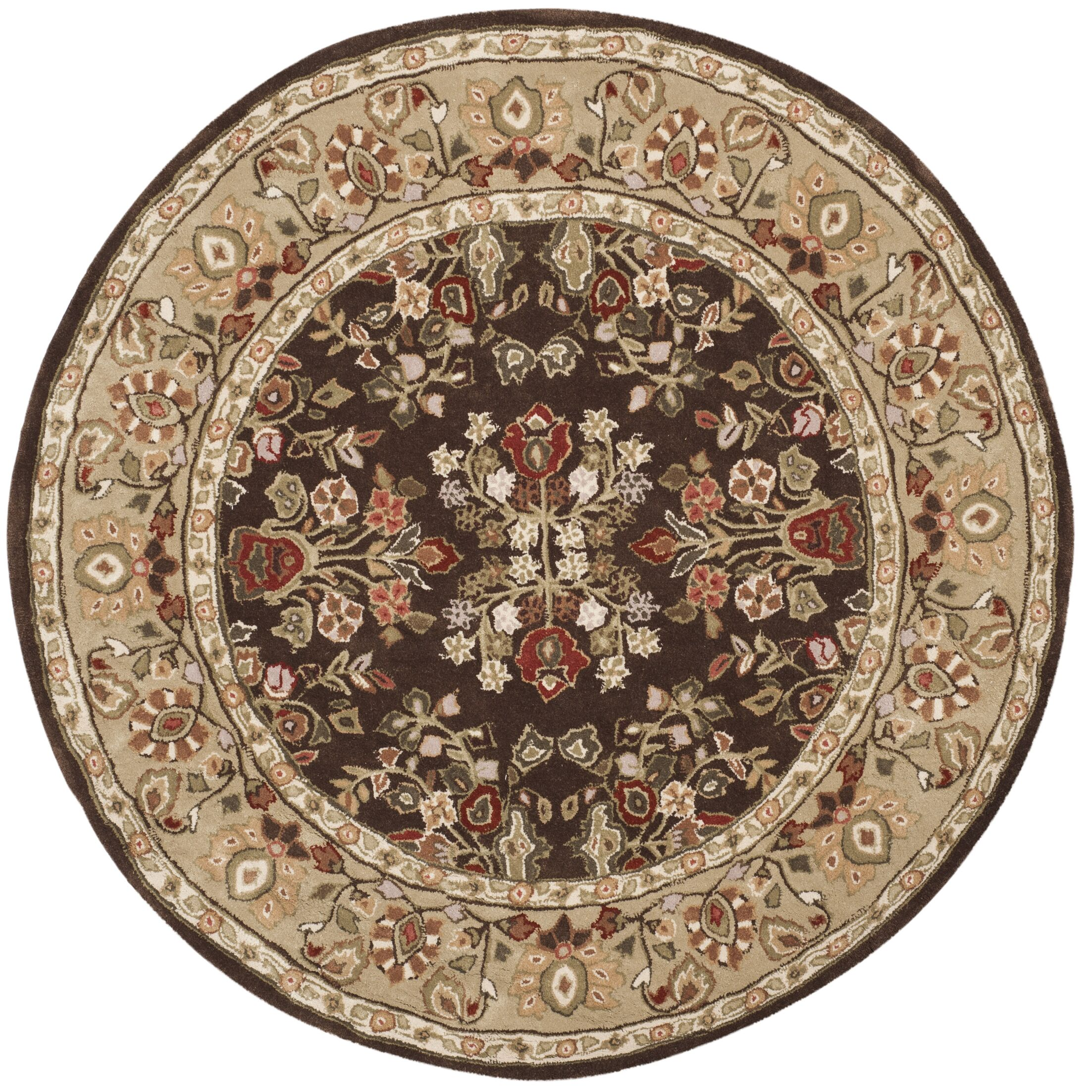 Stacy Hand Woven Arcrylic Brown/Green Area Rug Rug Size: Round 6' x 6'