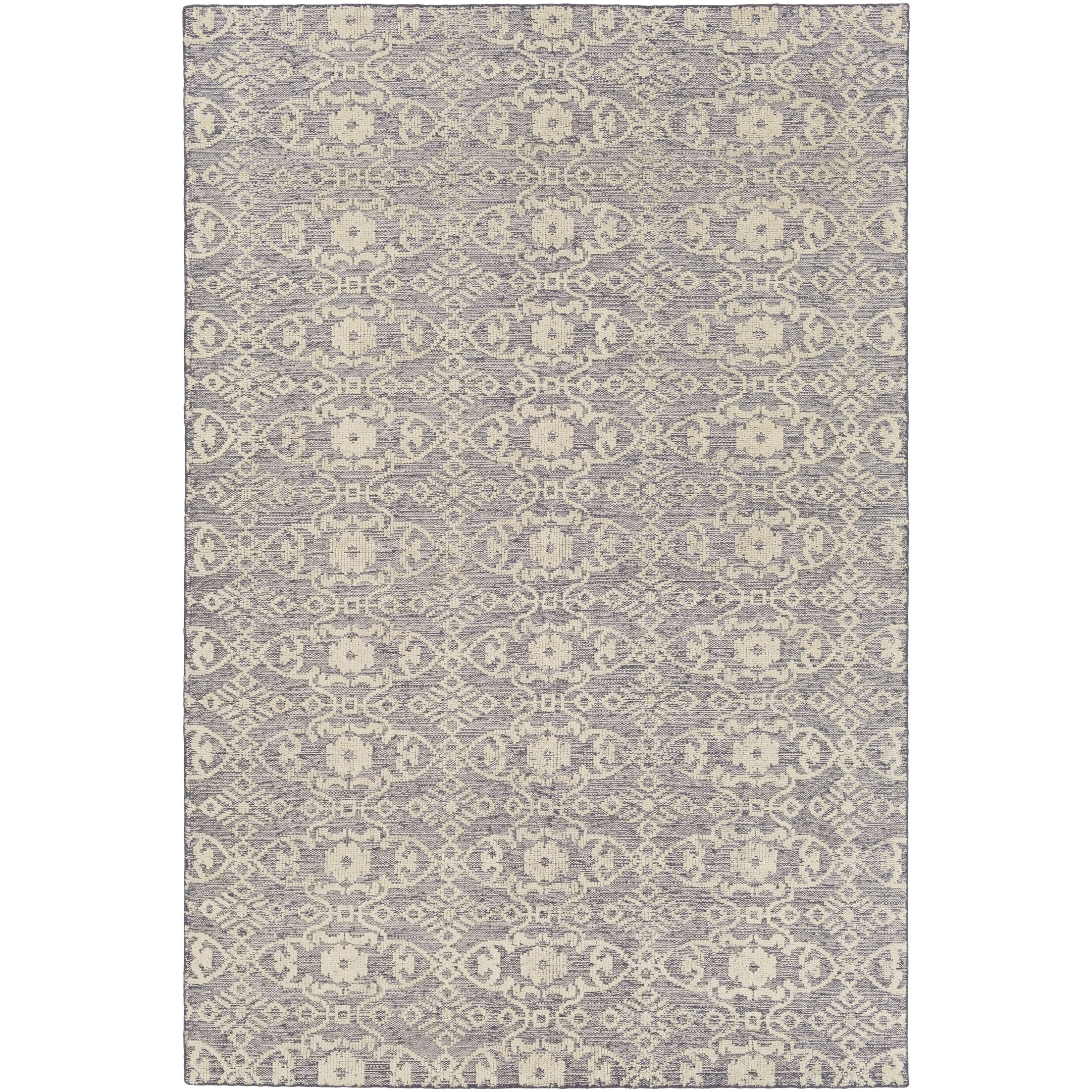 Eramana Hand Hooked Gray/Beige Area Rug Rug Size: Rectangle 9' x 13'