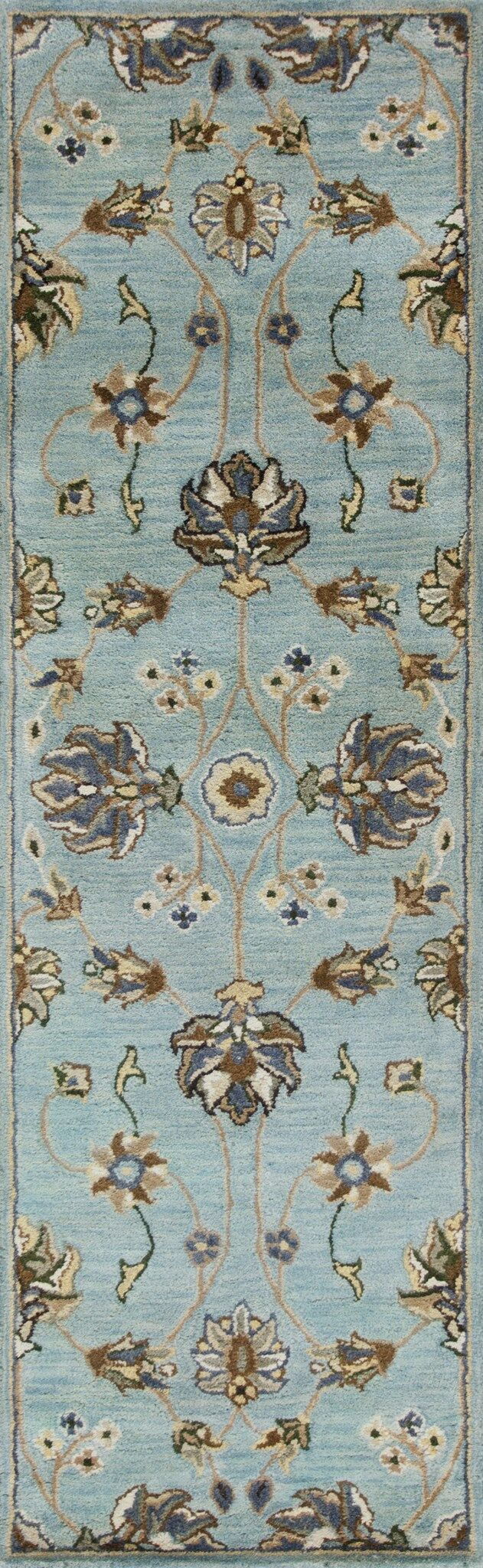 Breckler Hand-Tufted Blue Area Rug Rug Size: Runner 2'3