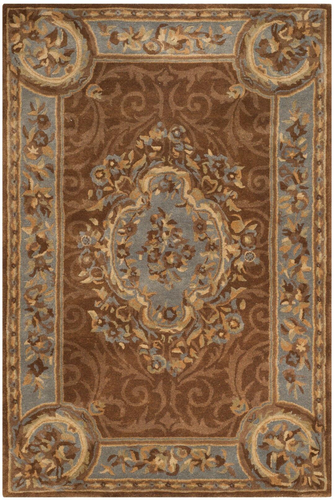 Sandusky Hand-Tufted Blue / Brown Area Rug Rug Size: Rectangle 4' x 6'
