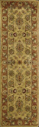 Lupton Hand-Tufted Gold Area Rug Rug Size: Runner 2'4