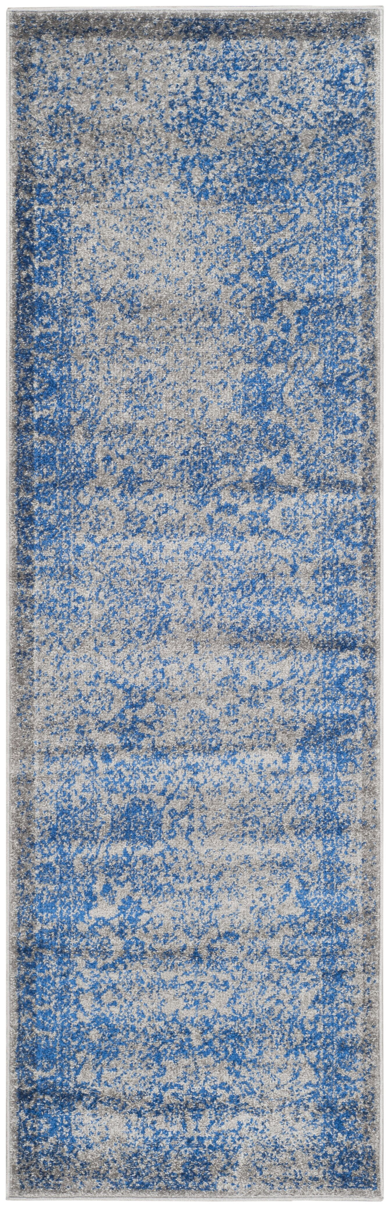 Hoyle Gray/Blue Area Rug Rug Size: Runner 2'6