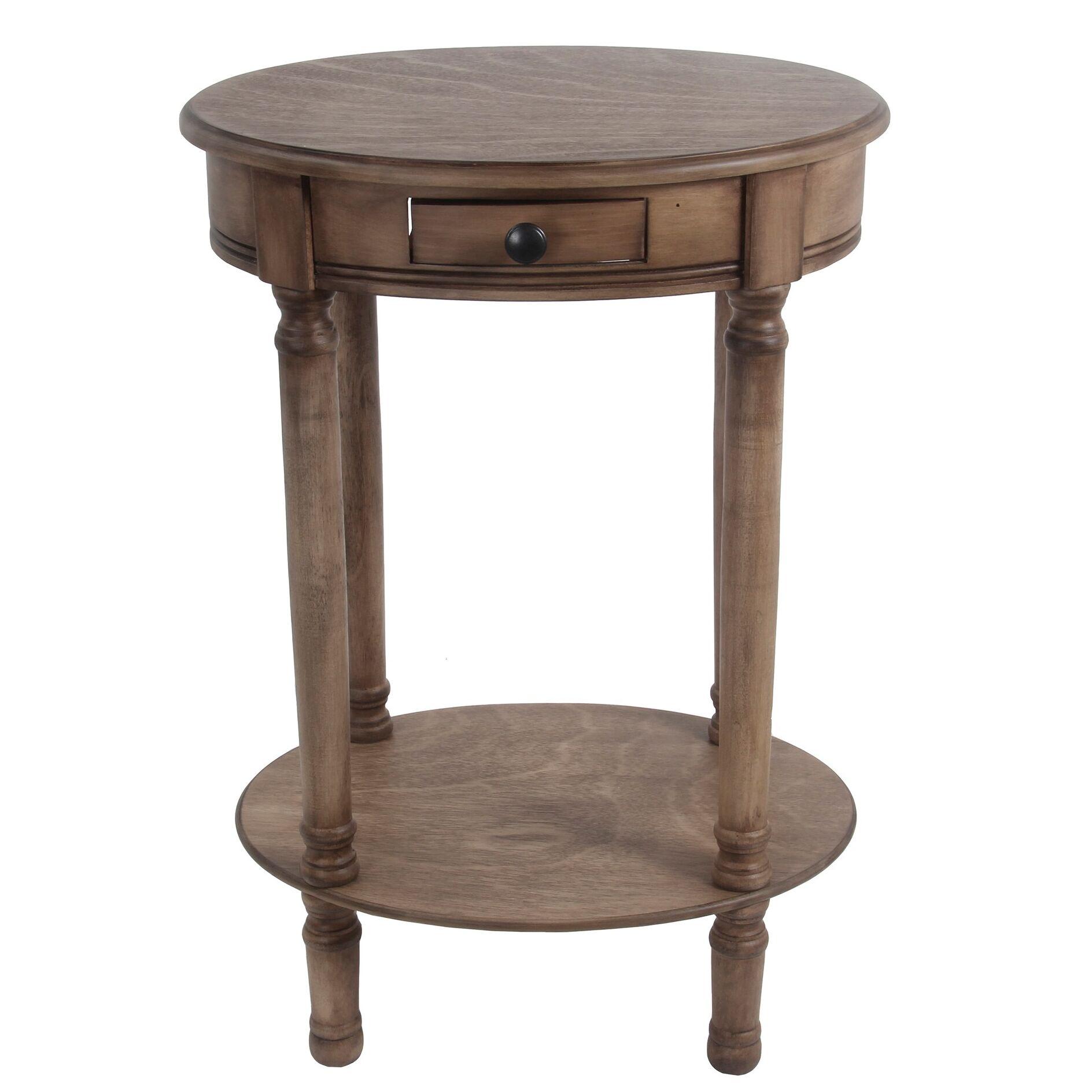 Alamo 1 Drawer End Table Color: Desert Brown