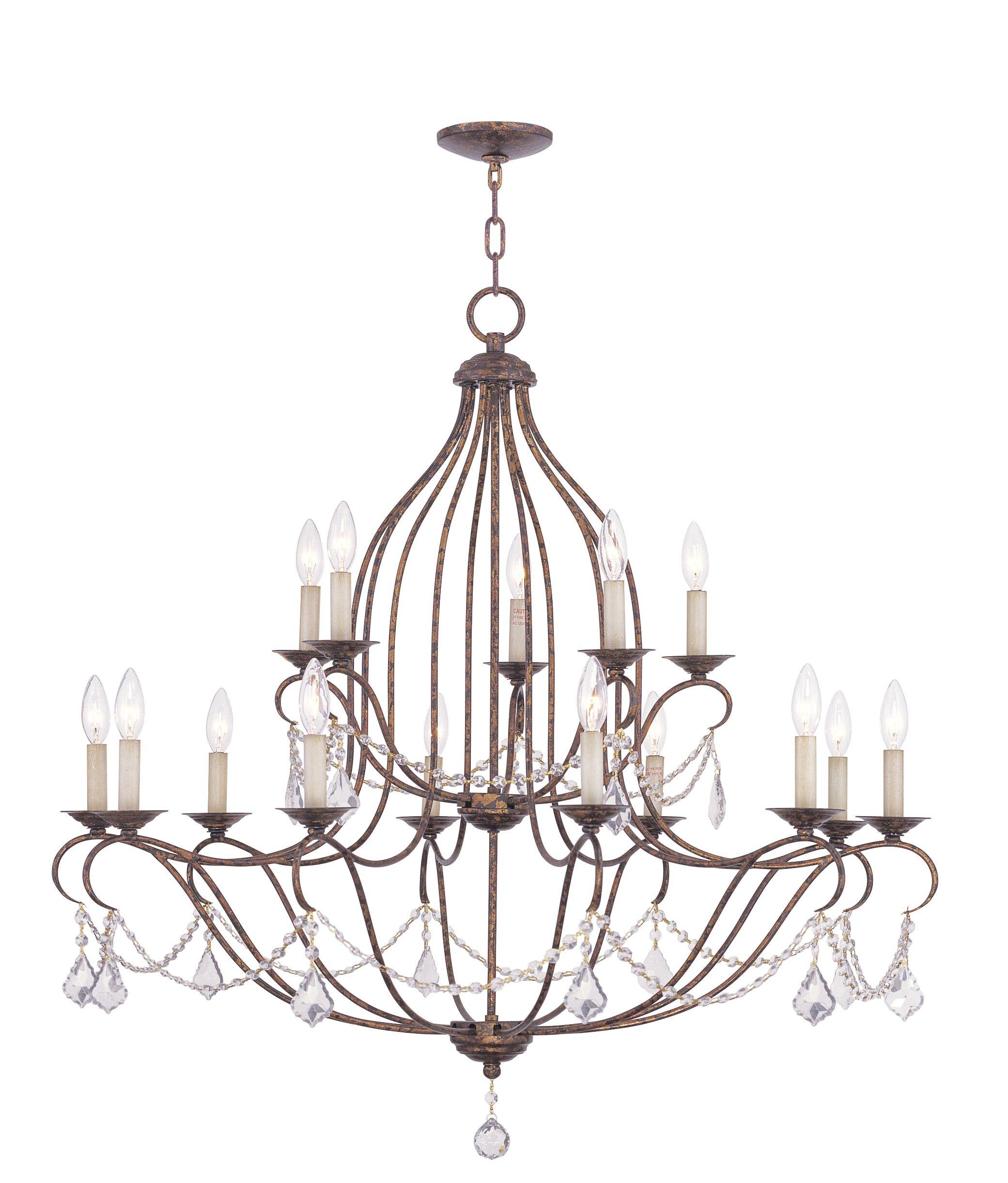 Bayfront 15-Light Candle Style Chandelier Color: Venetian Golden Bronze