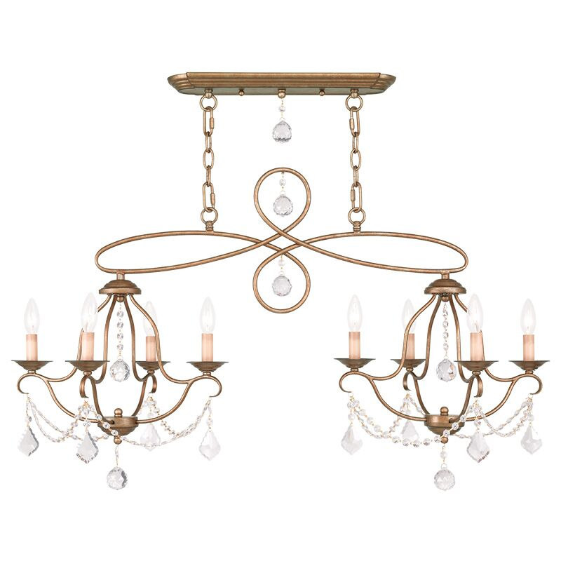 Bayfront 8-Light Candle Style Chandelier Color: Antique Gold Leaf