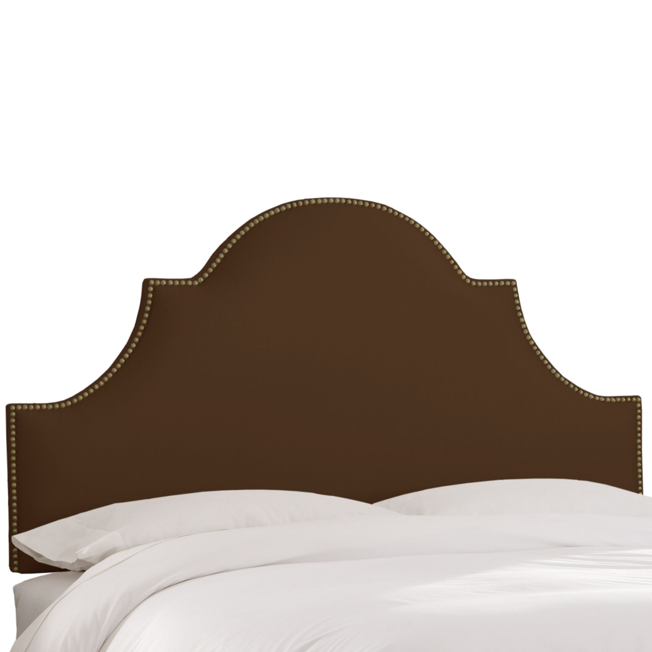 Delaware Upholstered Panel Headboard Size: Full, Upholstery Color: Chocolate
