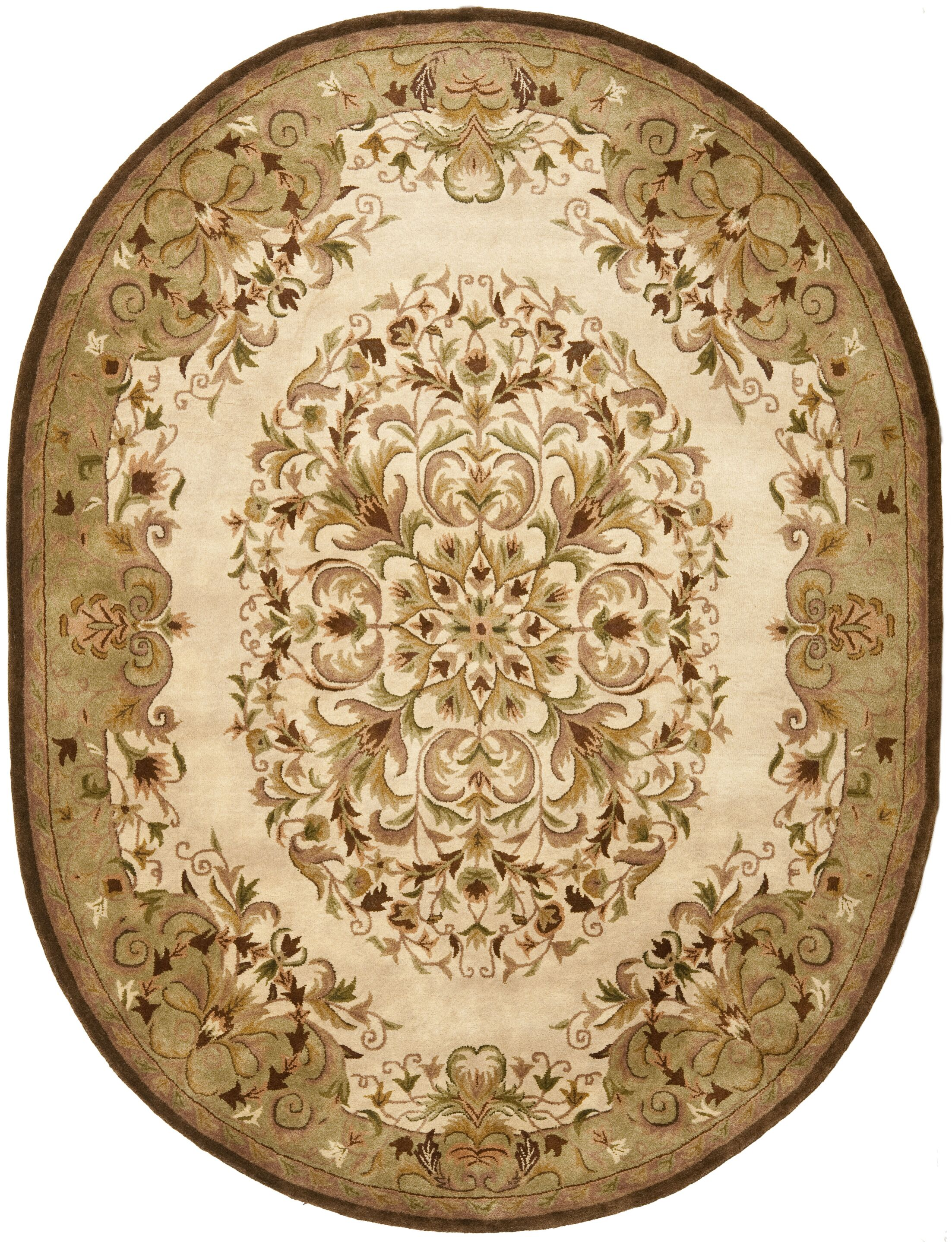 Taylor Hand-Tufted Beige Area Rug Rug Size: Rectangle 3' x 5'