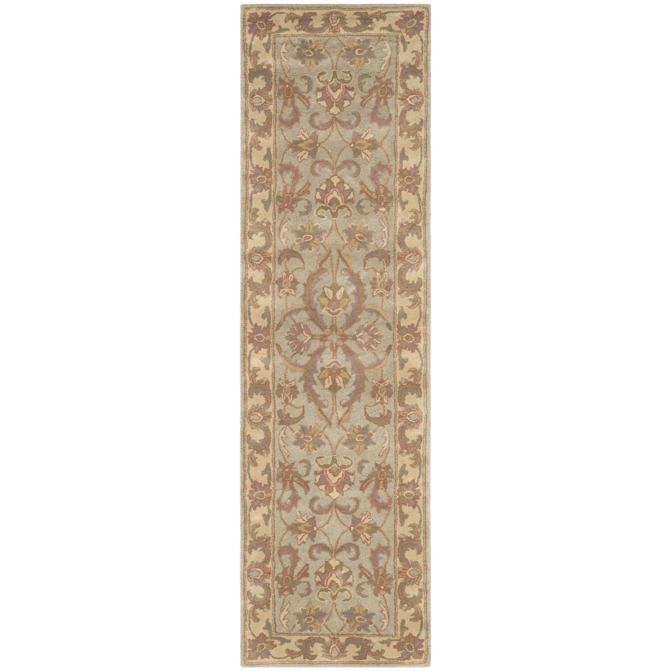Taylor Hand-Tufted Wool Green/Gold Area Rug Rug Size: Runner 2'3