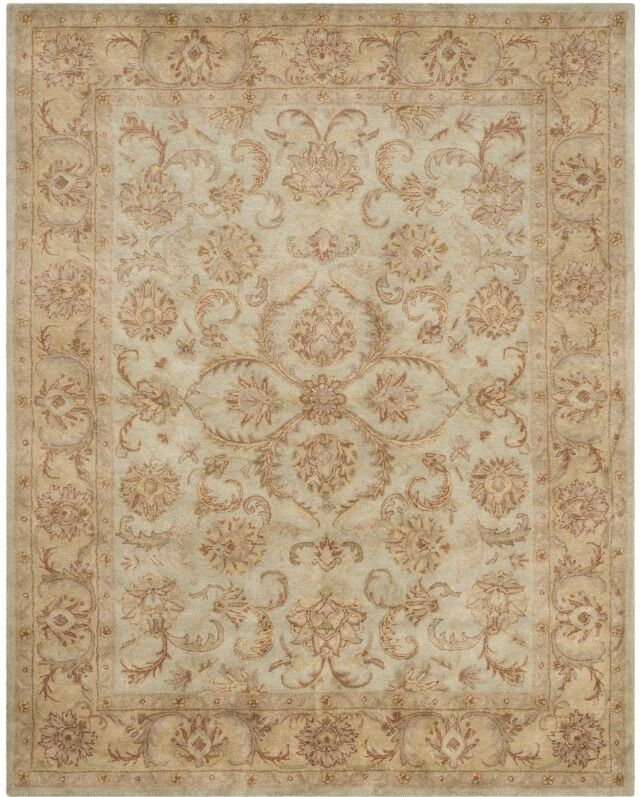 Taylor Hand-Tufted Wool Green/Gold Area Rug Rug Size: Rectangle 7'6