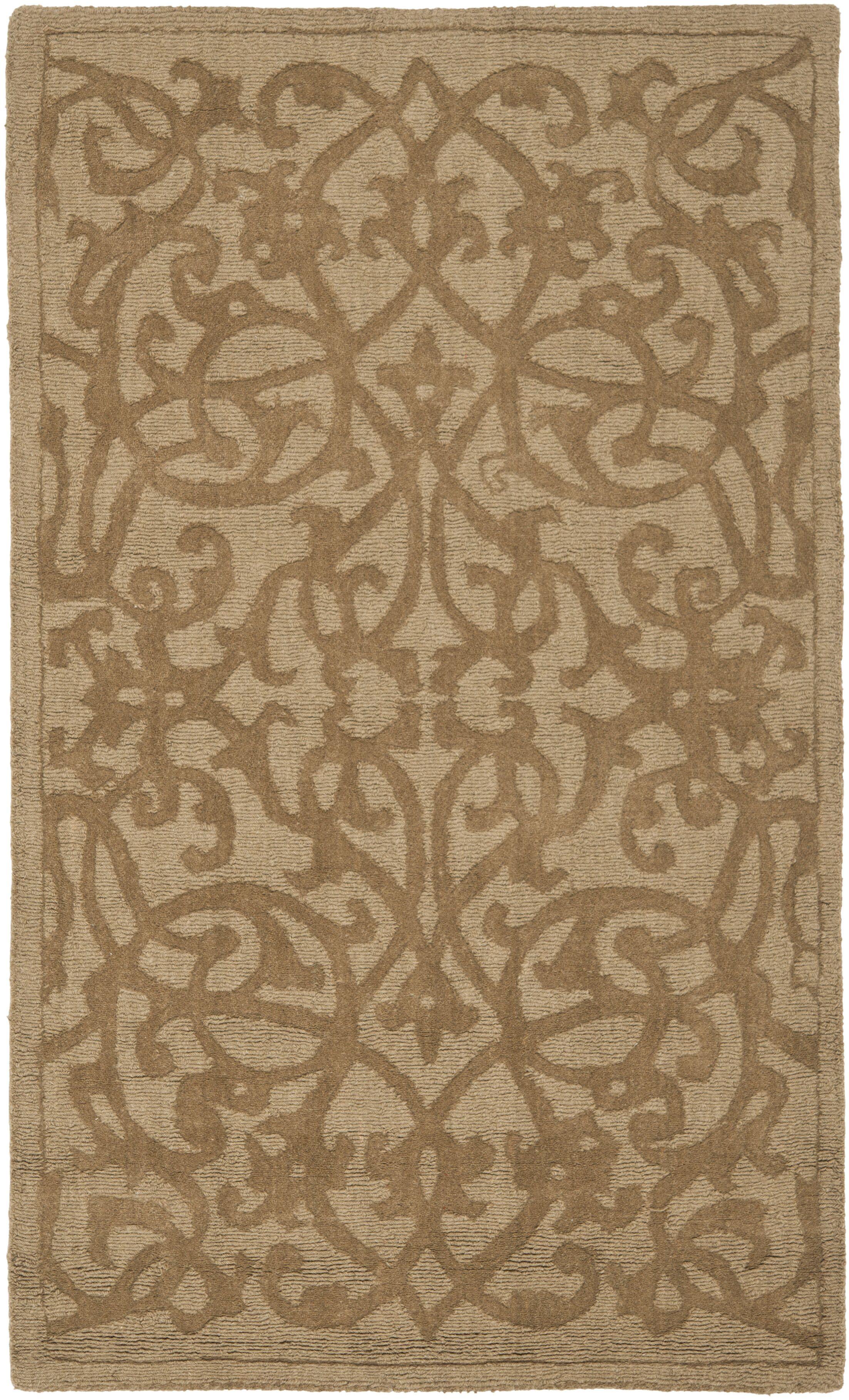 Palmwood Modern Light Brown Area Rug Rug Size: Rectangle 7'6