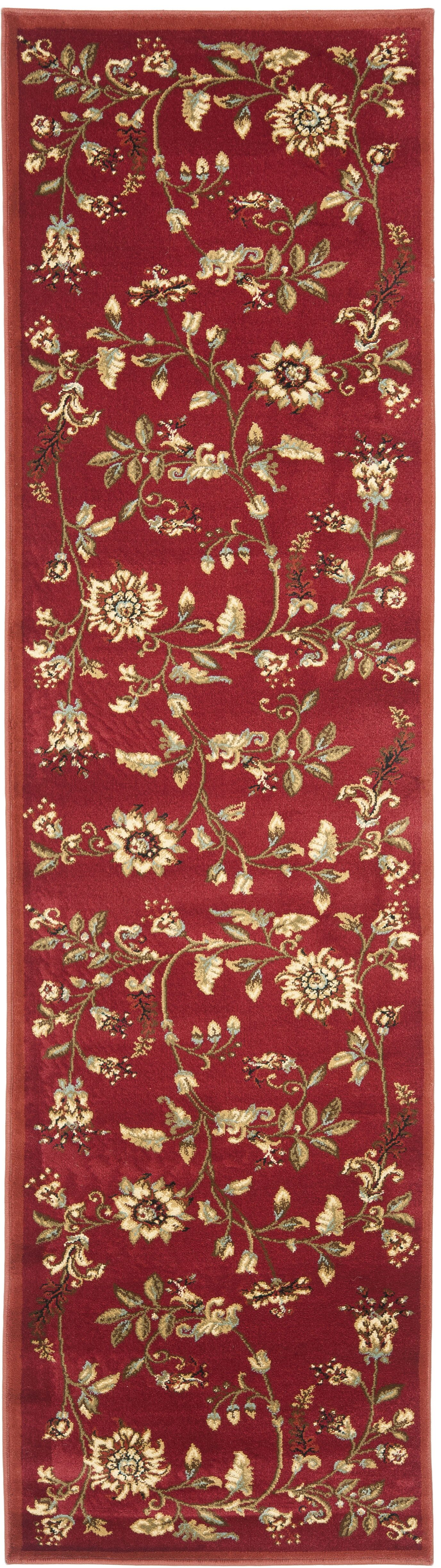 Taufner Red Area Rug Rug Size: Runner 2'3