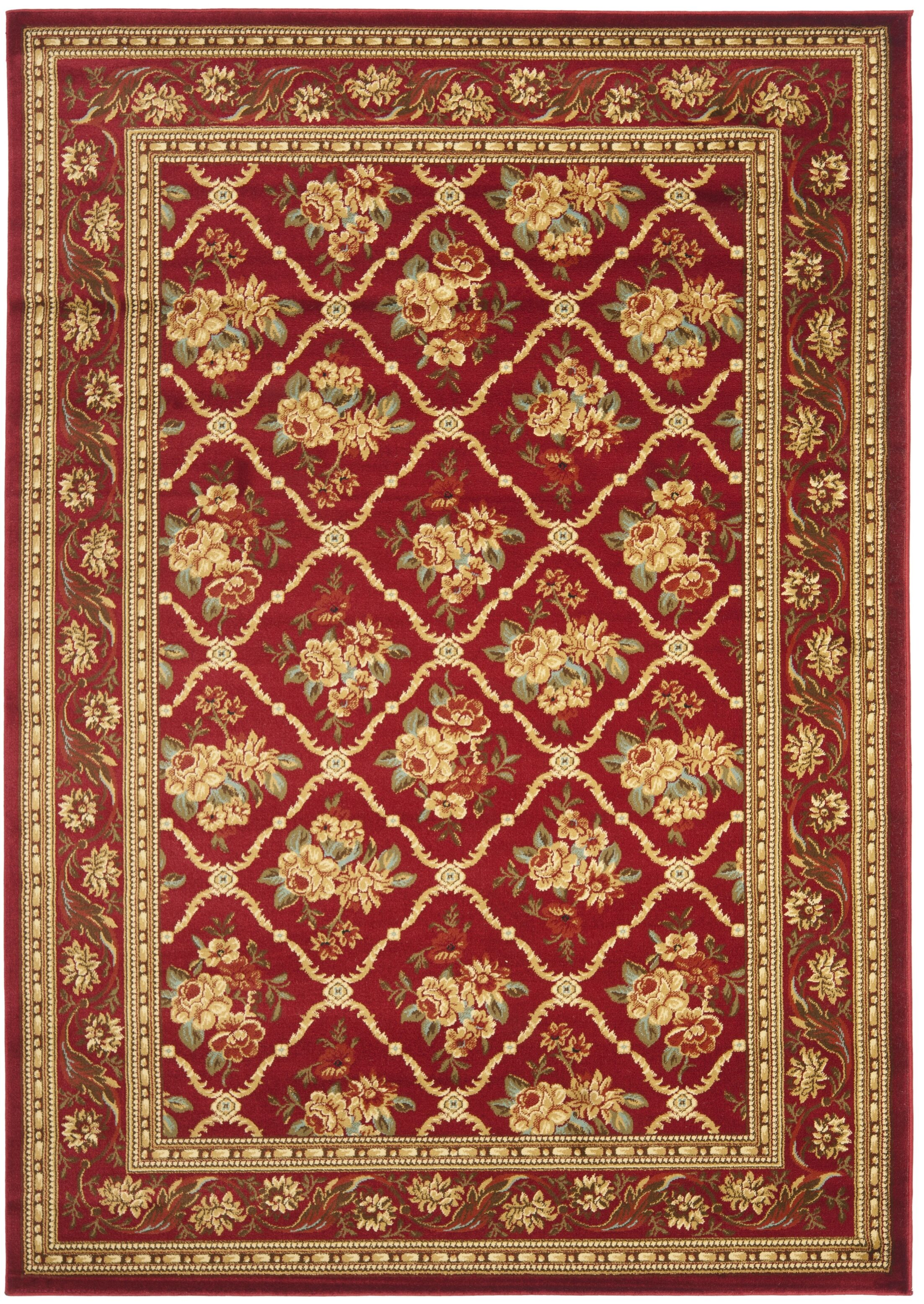 Taufner Red Area Rug Rug Size: Rectangle 5'3