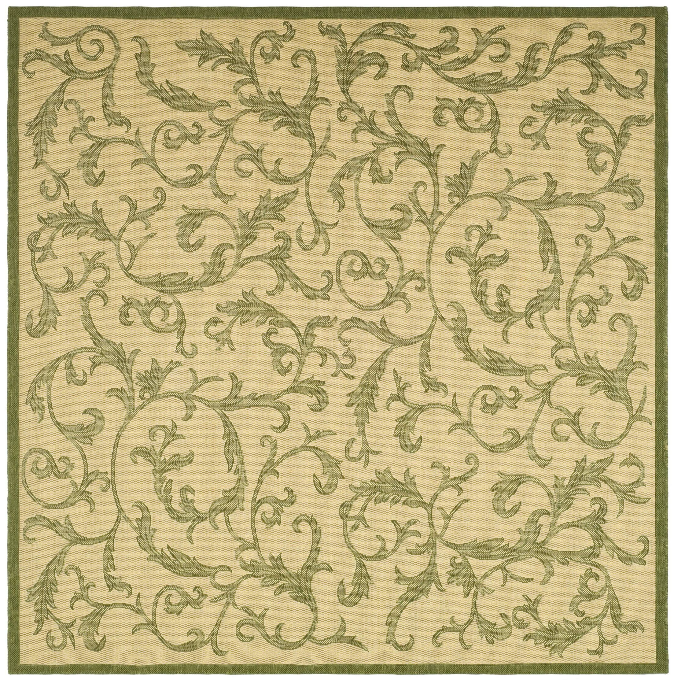 Beasley All Over Ivy Outdoor Rug Rug Size: Square 7'10