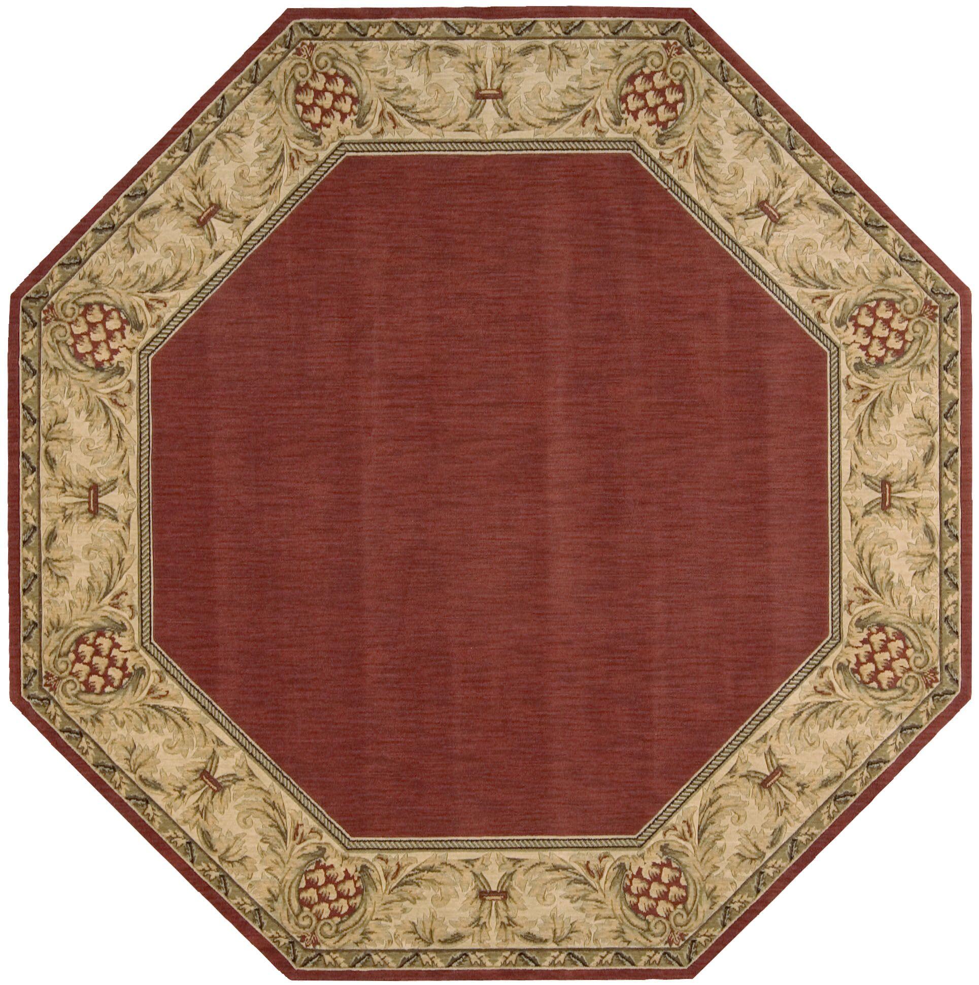 Bebington Wool Brick/Red Area Rug Rug Size: Rectangle 3'6