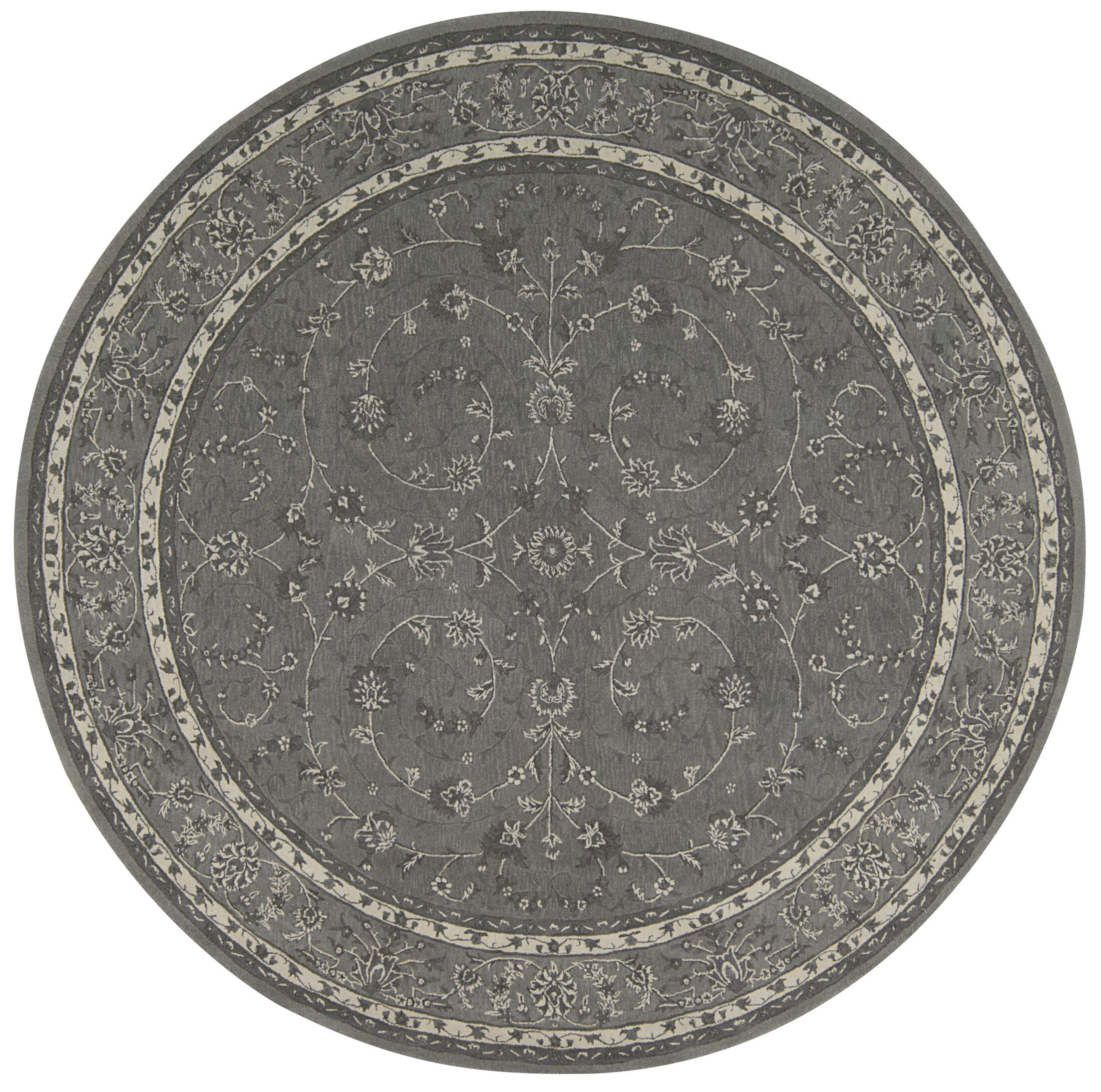 Lundeen Steel Area Rug Rug Size: Round 9' x 9'