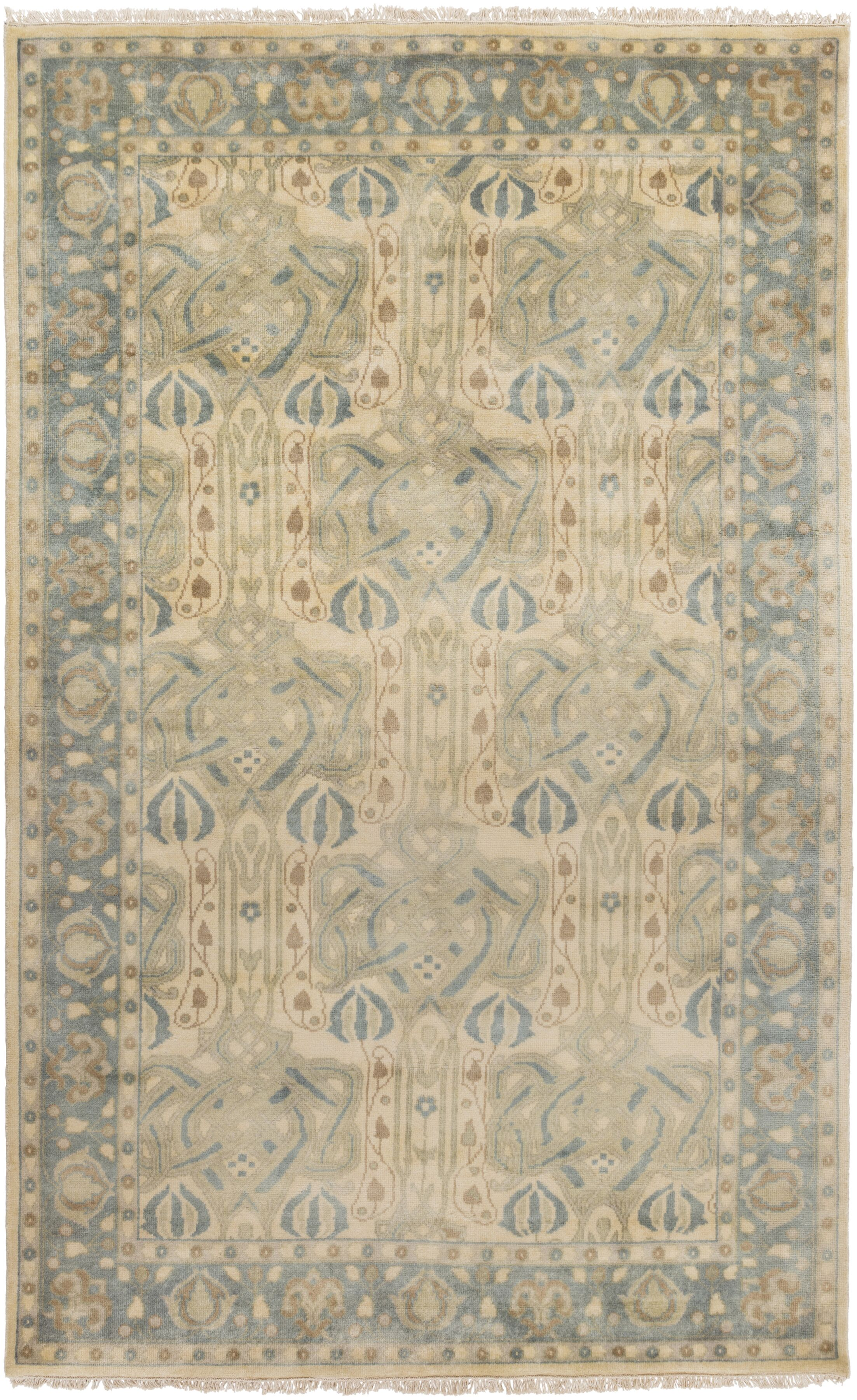 Nevins Light Gray/Moss Area Rug Rug Size: Rectangle 2' x 3'