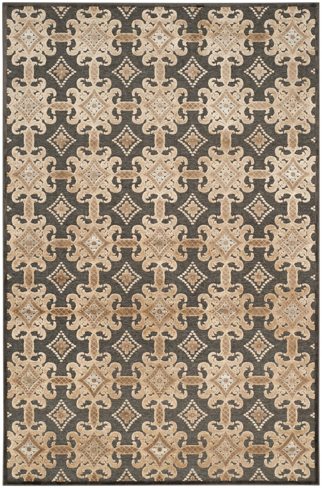 Martha Stewart Soft Anthracite/Anthracite Area Rug Rug Size: Rectangle 3'3